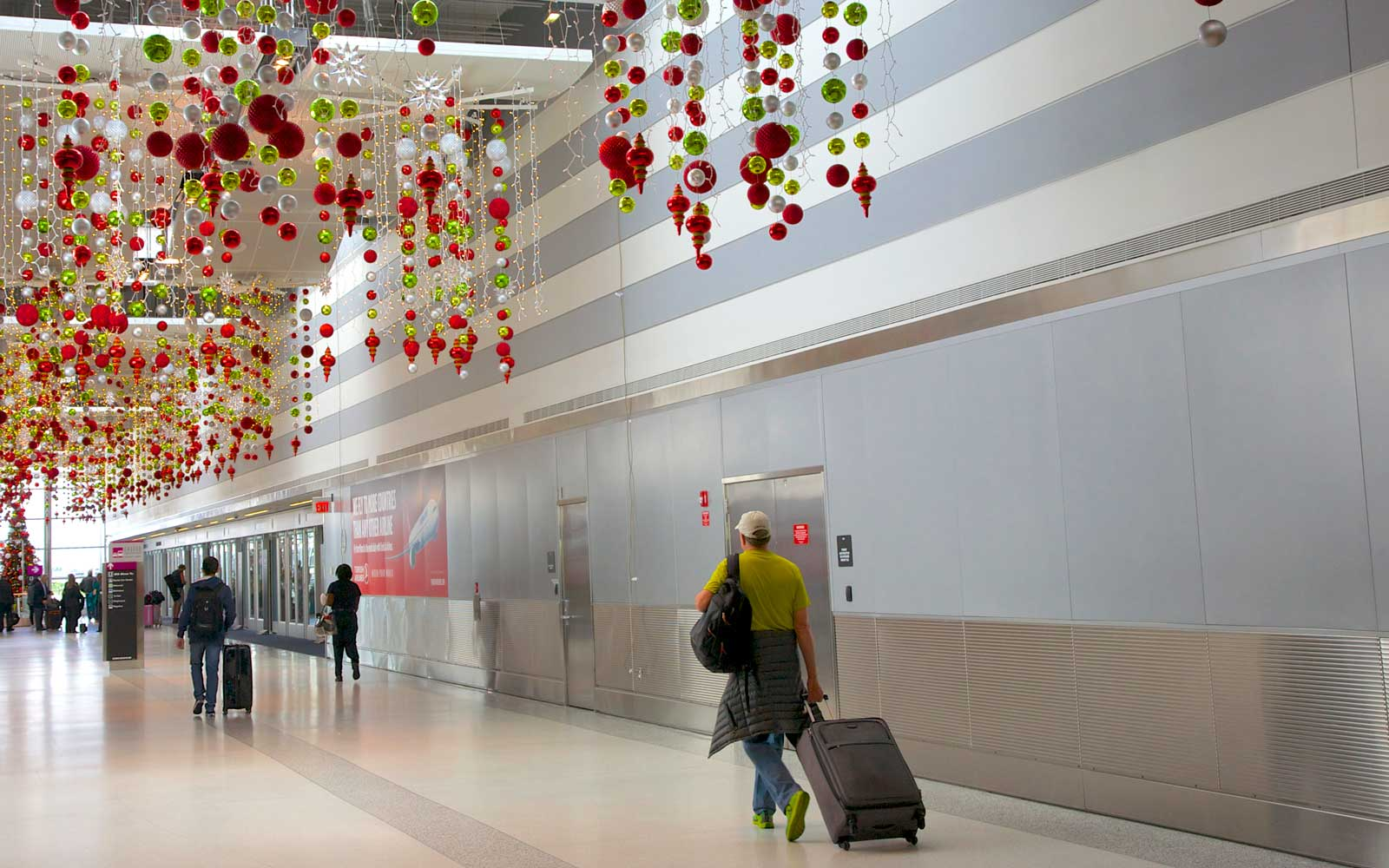Christmas decorations at Miami Airport