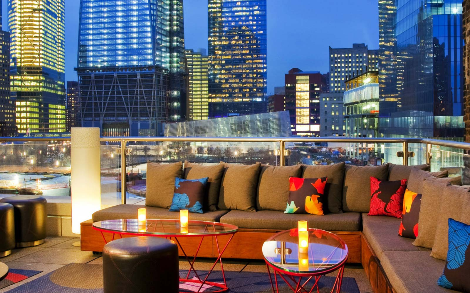 W Hotel Downtown Living Room Terrace New York