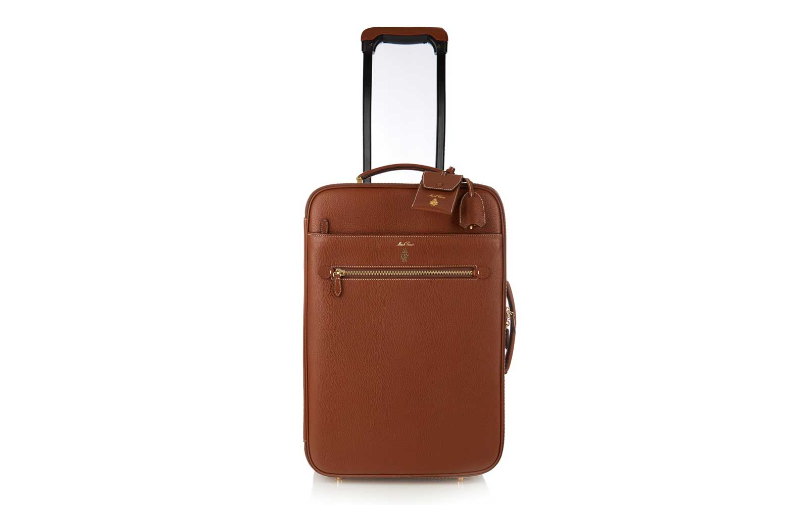 The Luggage: Mark Cross carry-on suitcase