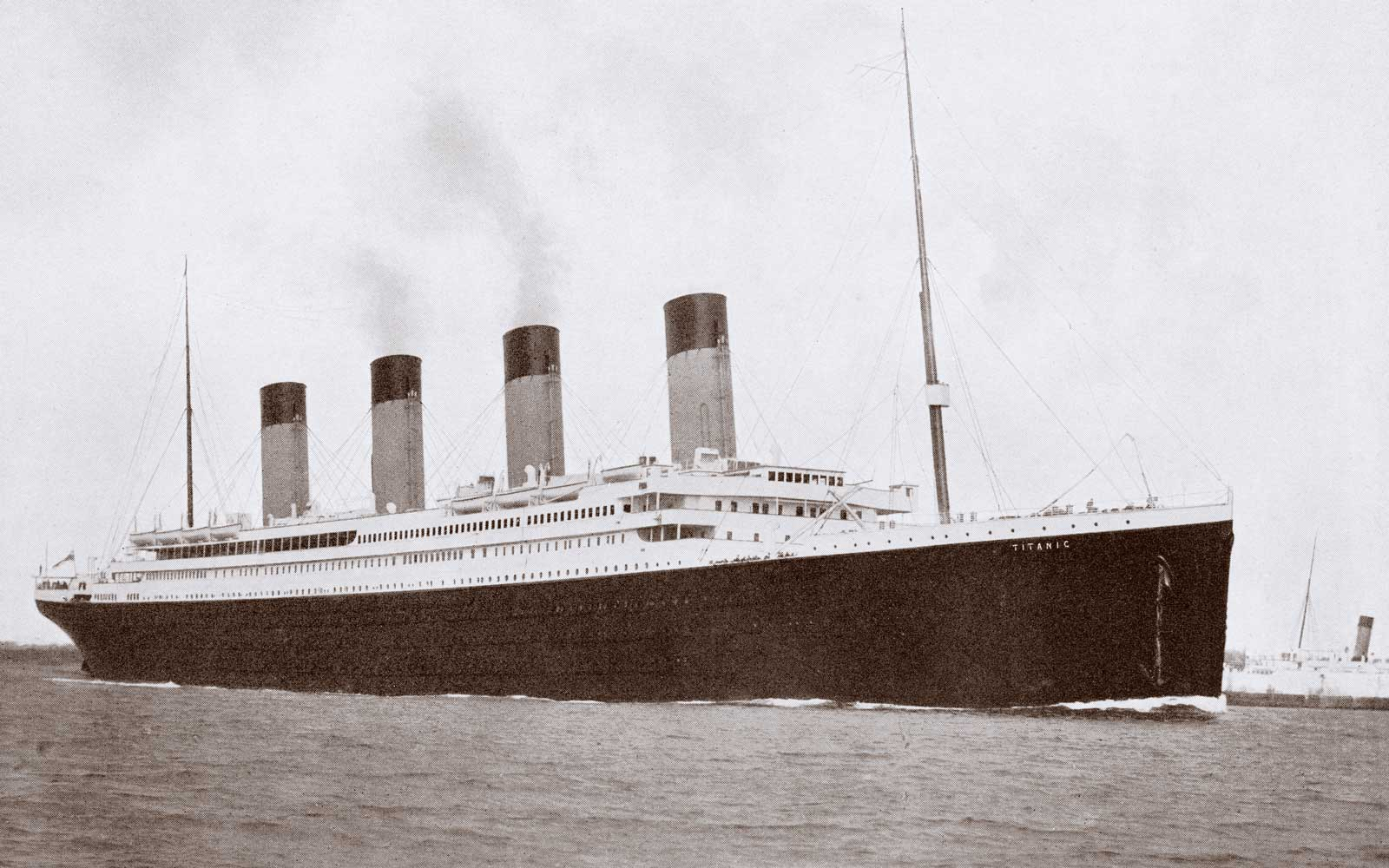 The 46,328 tons RMS Titanic of the White Star Line which sank at 2:20 AM Monday morning April 15 1912 after hitting iceberg in North Atlantic