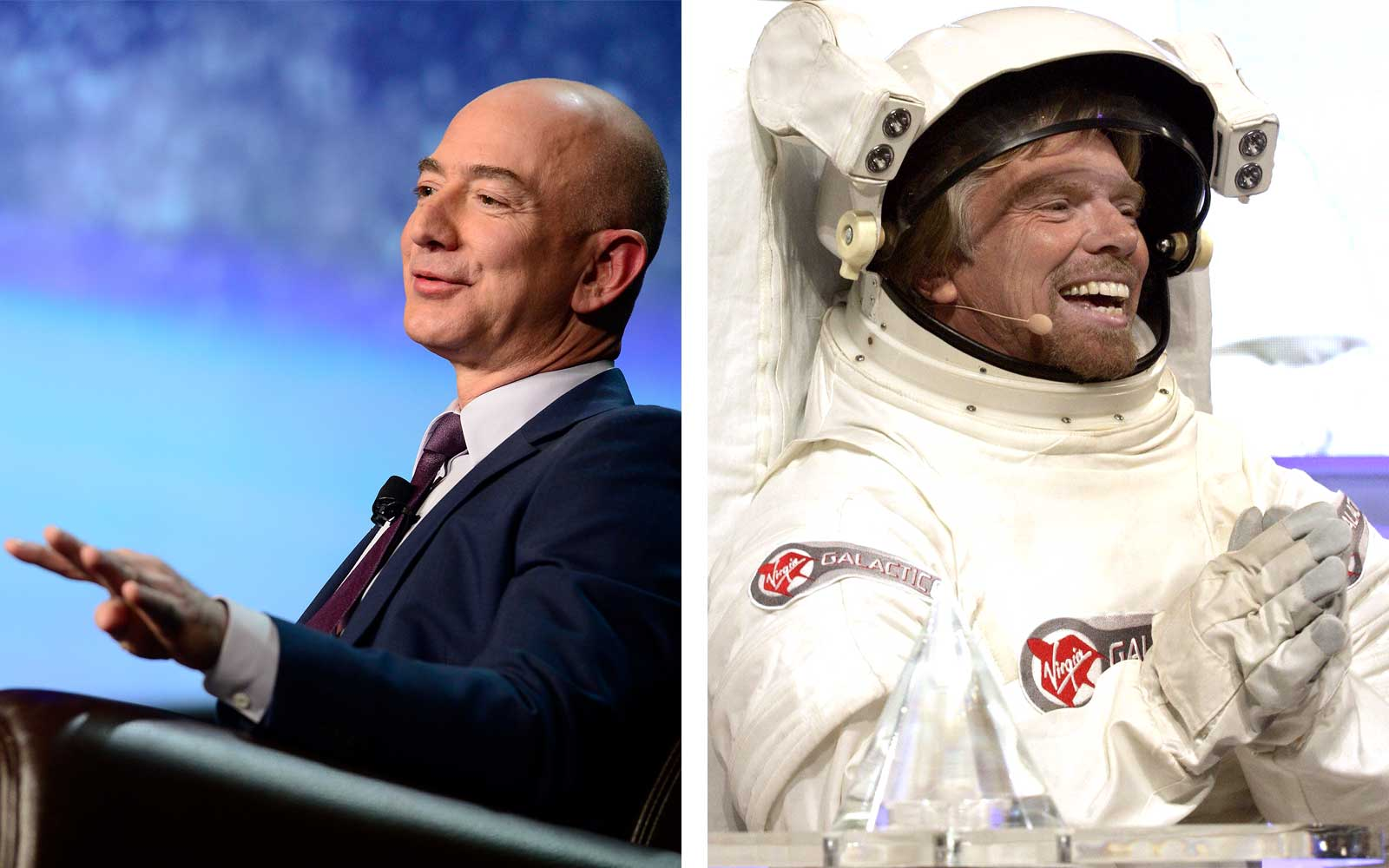 Jeff Bezos and Richard Branson, Space Exploration