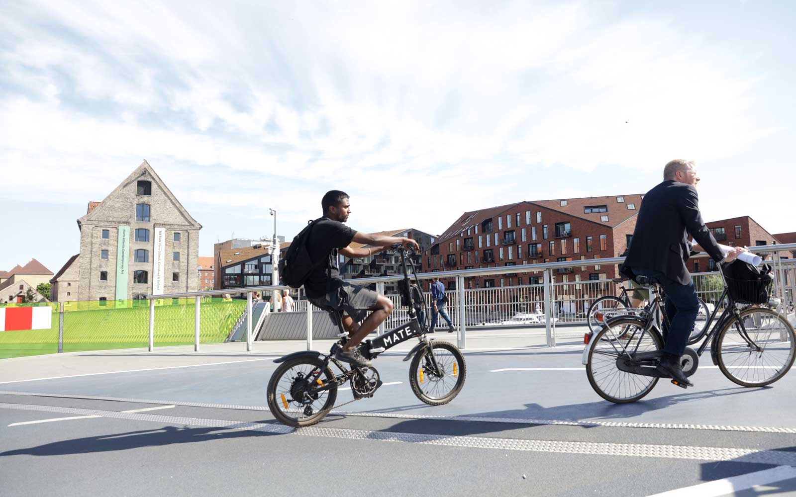 Cycling in Copenhagen, Denmark