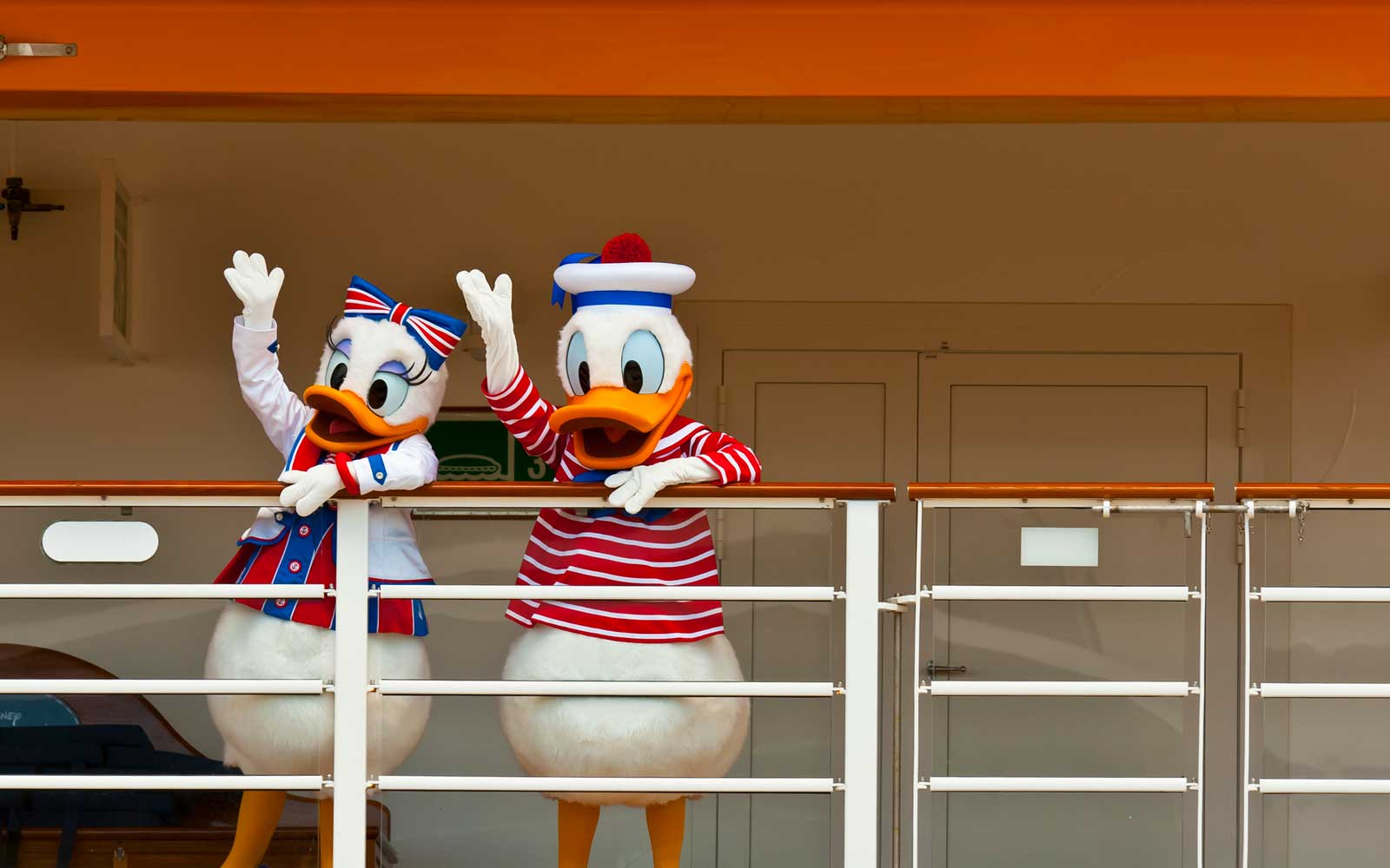 Daisy and Donald Duck on a Disney Cruise