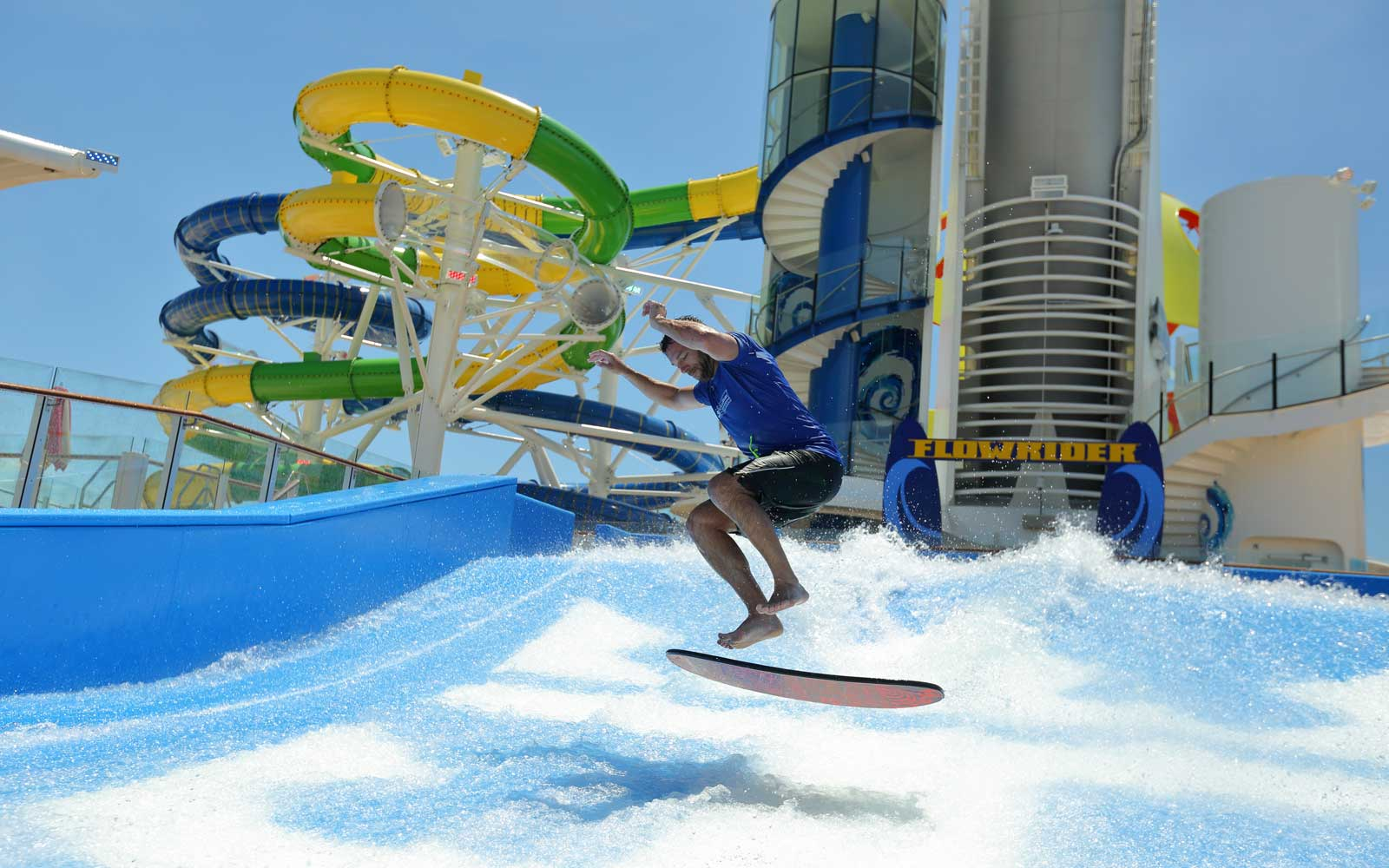 Flowrider attraction on the Royal Caribbean Mariner of the Seas