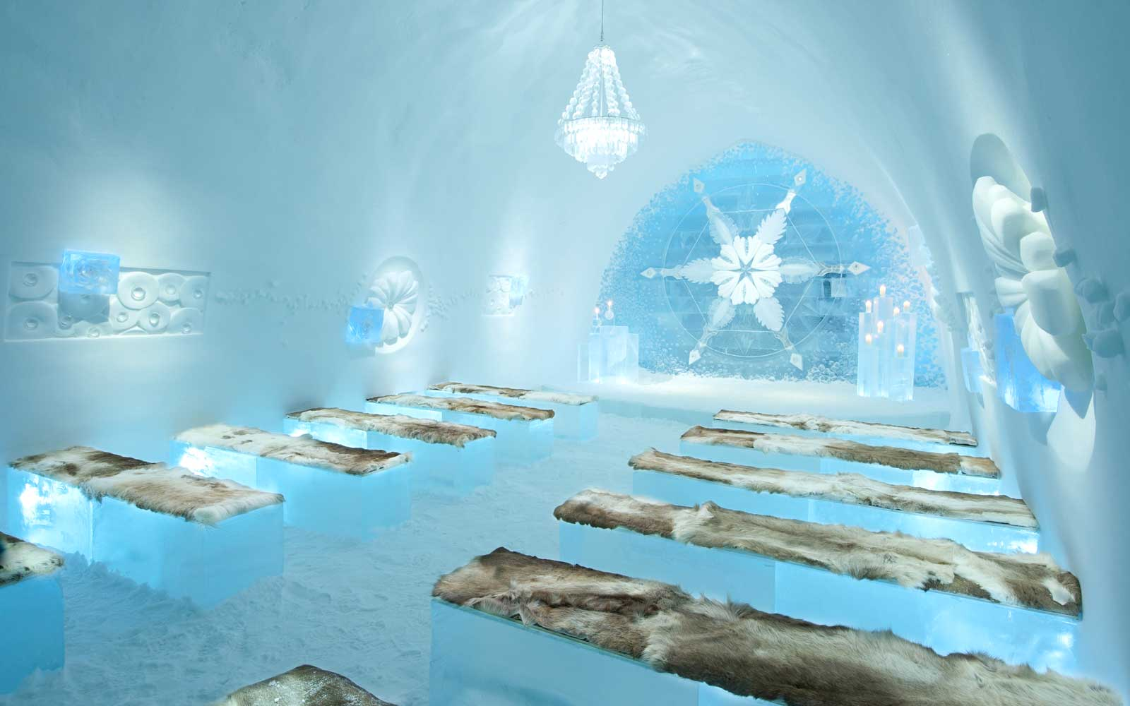 Ice Hotel 28 Sweden Wedding Hall