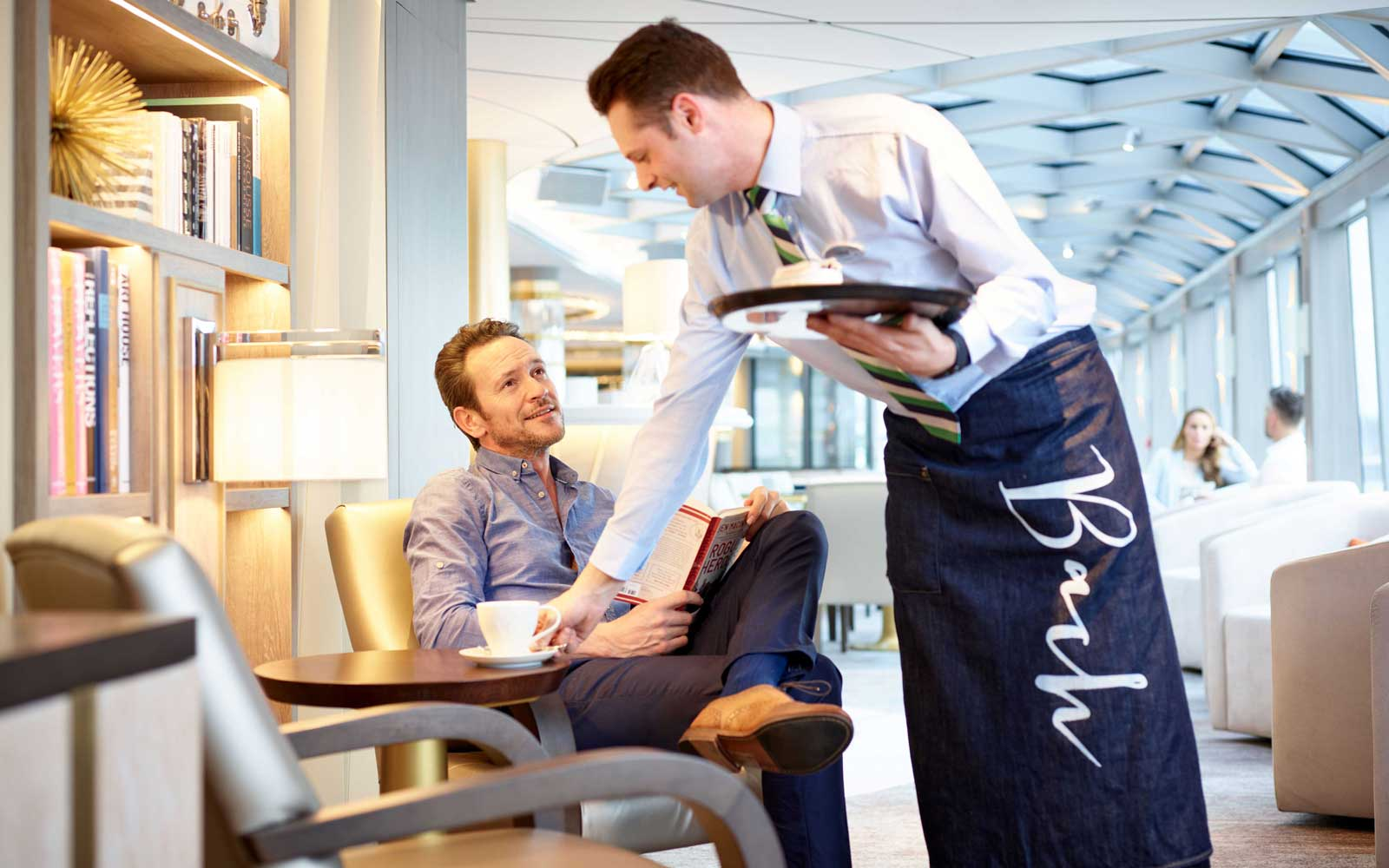 Service on board the Crystal River cruises Rhine class ships
