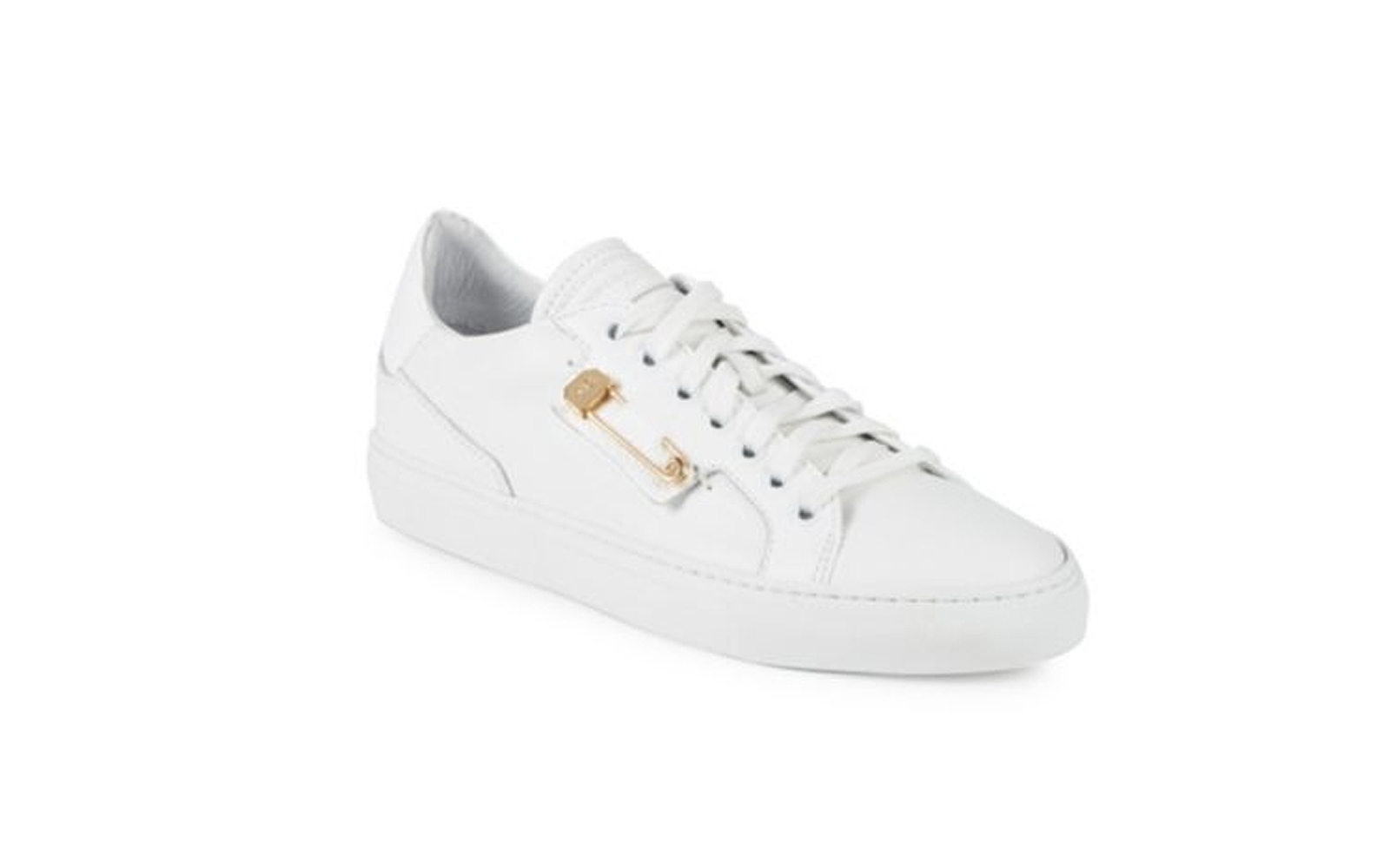 John Galliano White Leather Sneakers