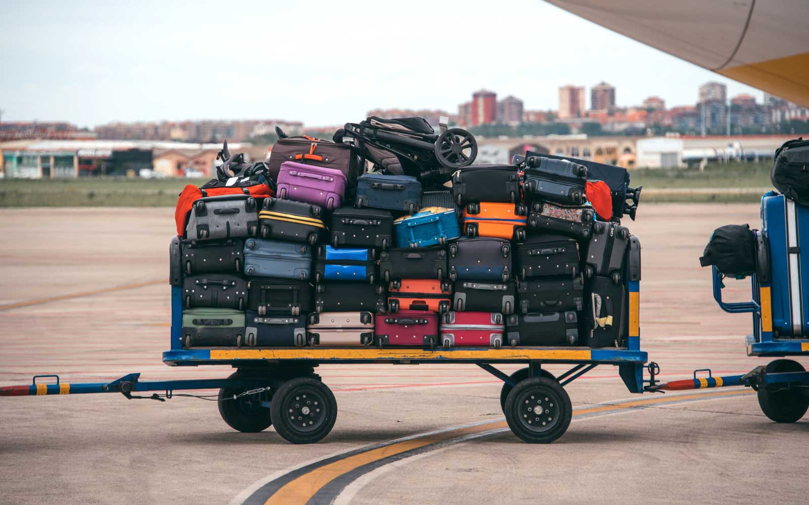Luggage cart at the airport