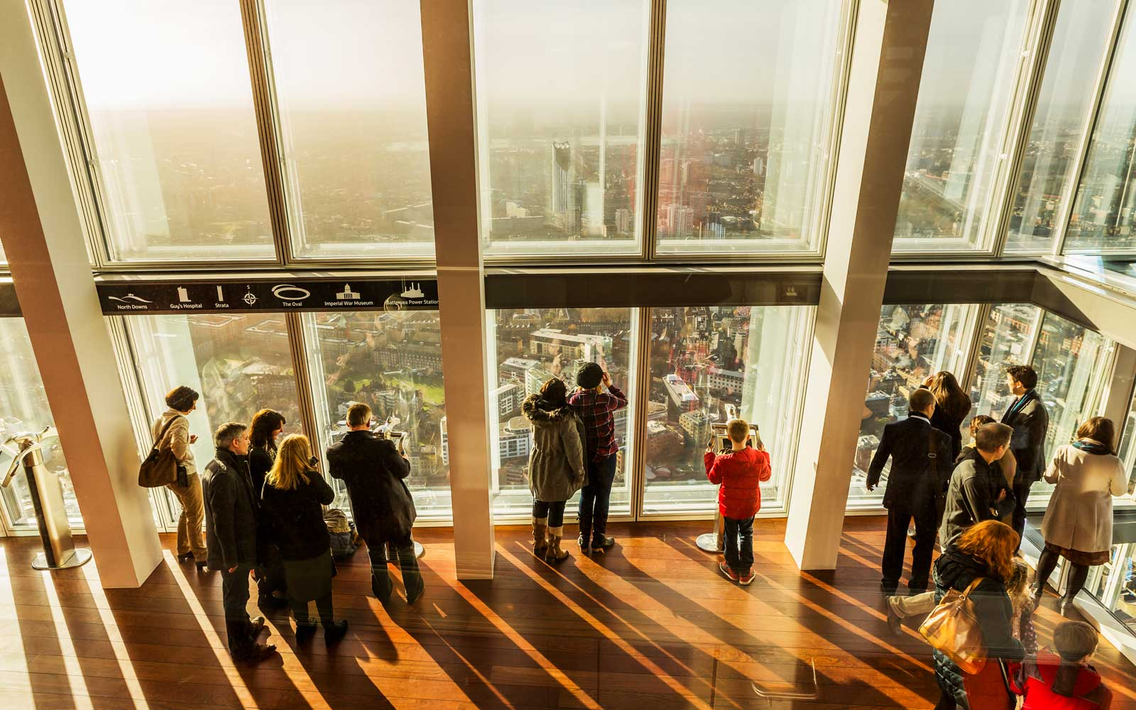 The View from The Shard, the observation deck (Renzo piano architect) at The Shard in London