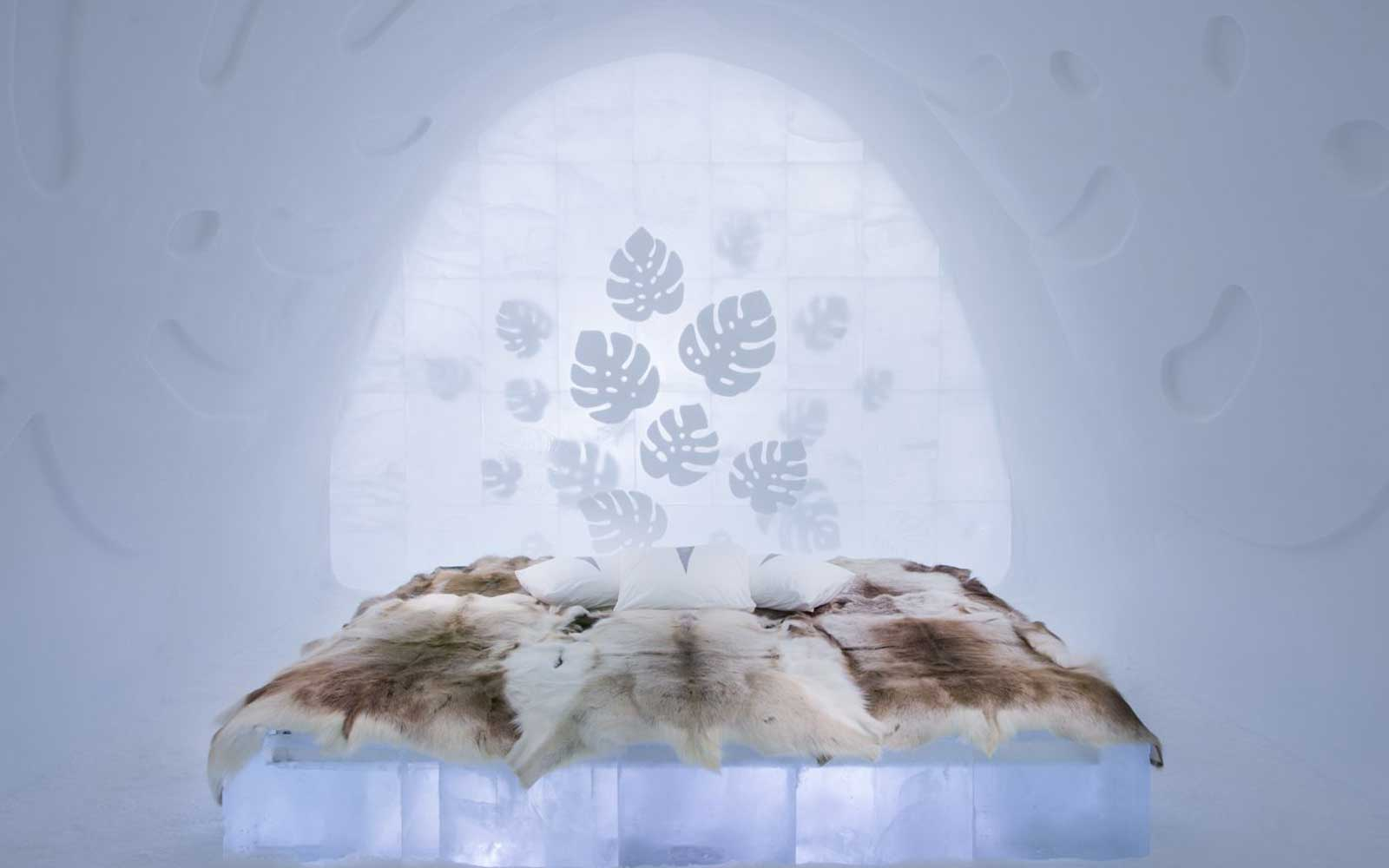 Sweden Ice Hotel Art Suite Monstera Room