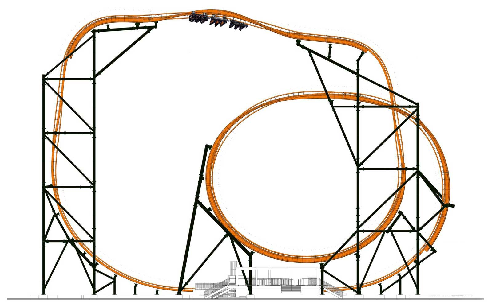 Rendering of Tigris Coaster at Busch Gardens Tampa Bay