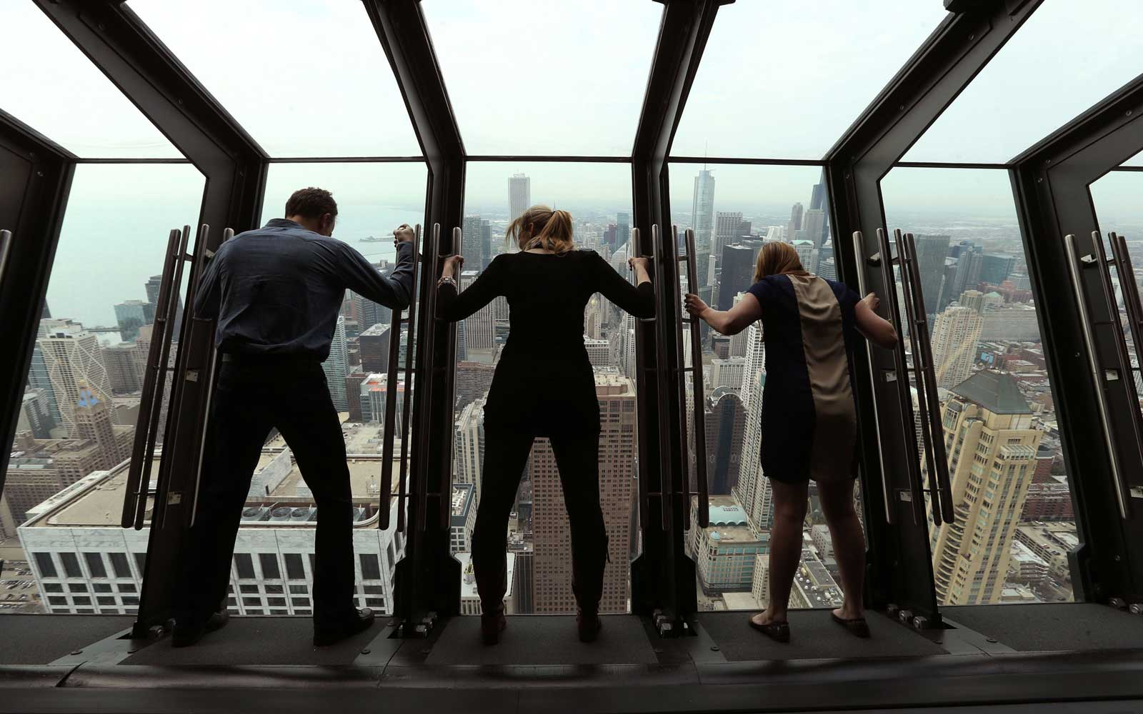 Hancock's new 'Tilt!' viewing platform puts you over the edge in Chicago, Illinois