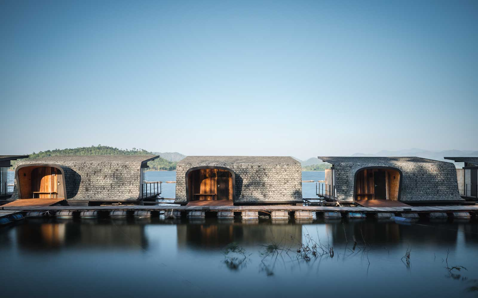 Floating cabins at the Z9 Resort in Thailand
