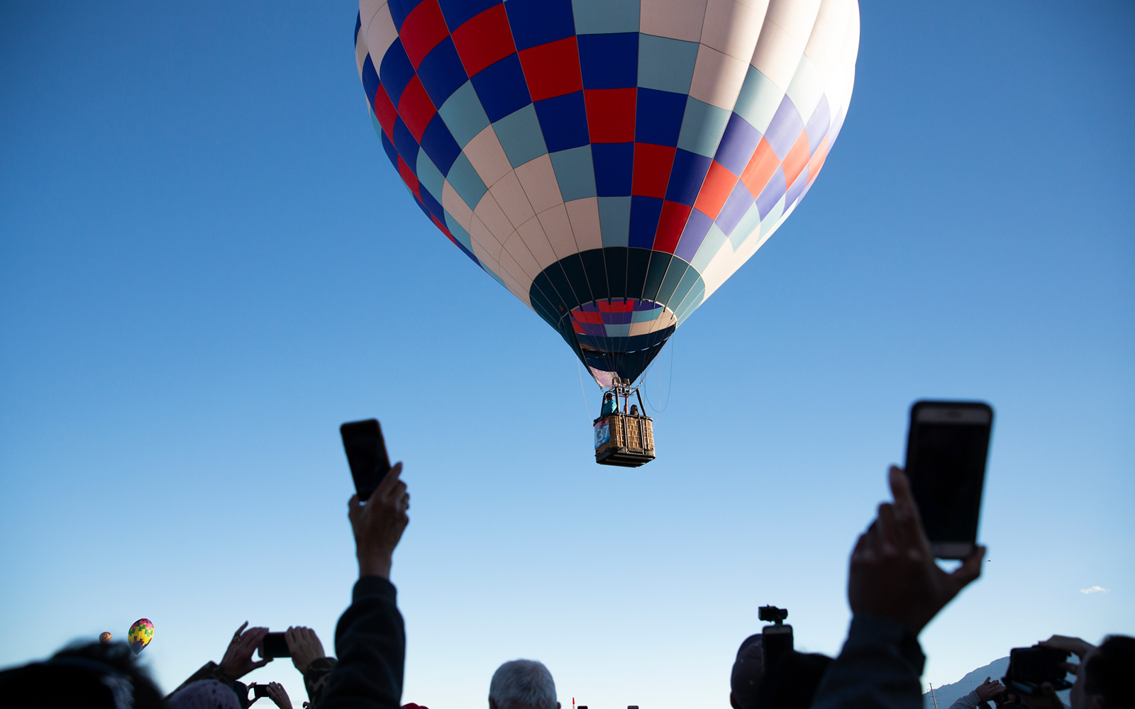 Spectators at the Albuquerque International Balloon Fiesta