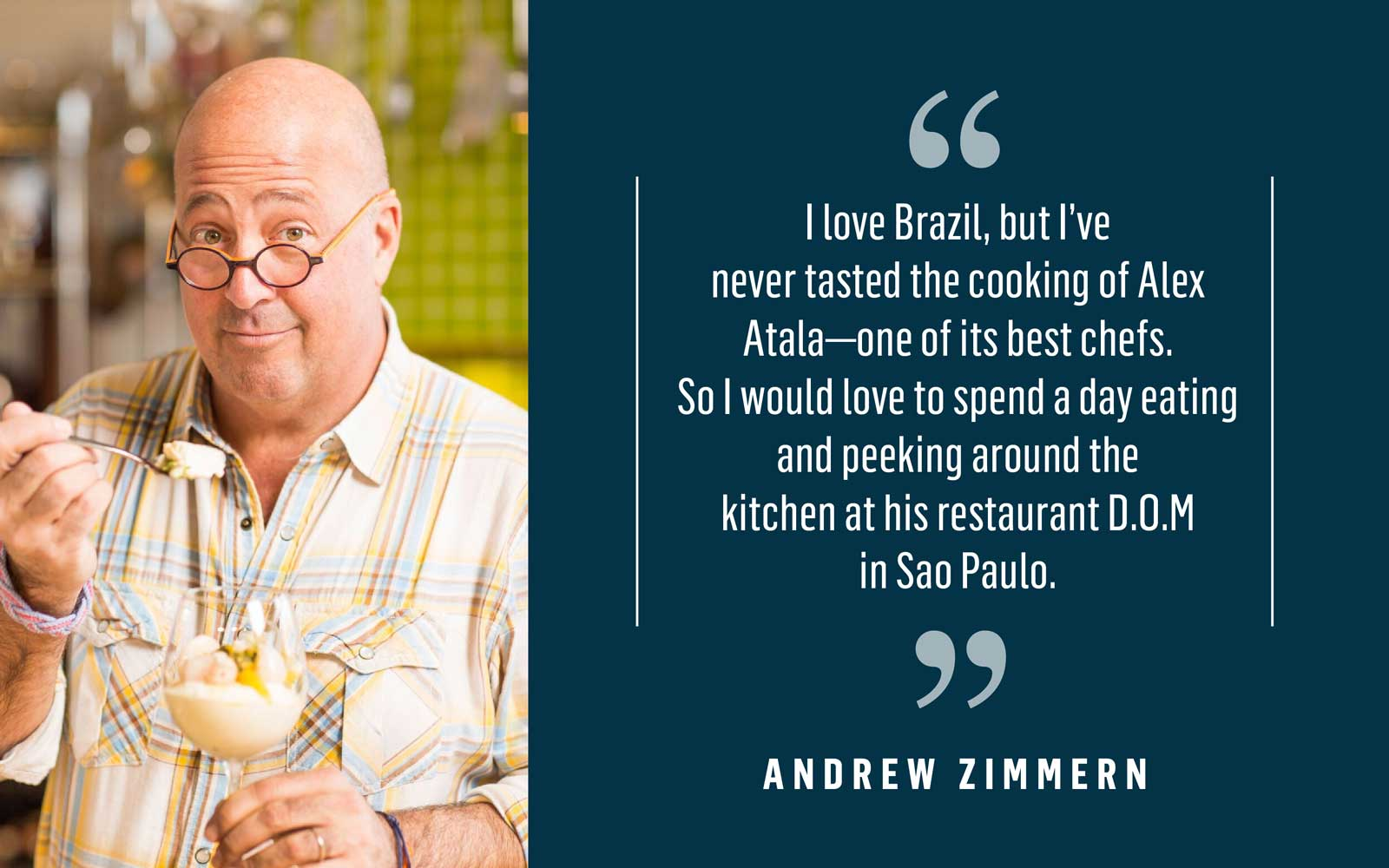 Food personality Andrew Zimmern