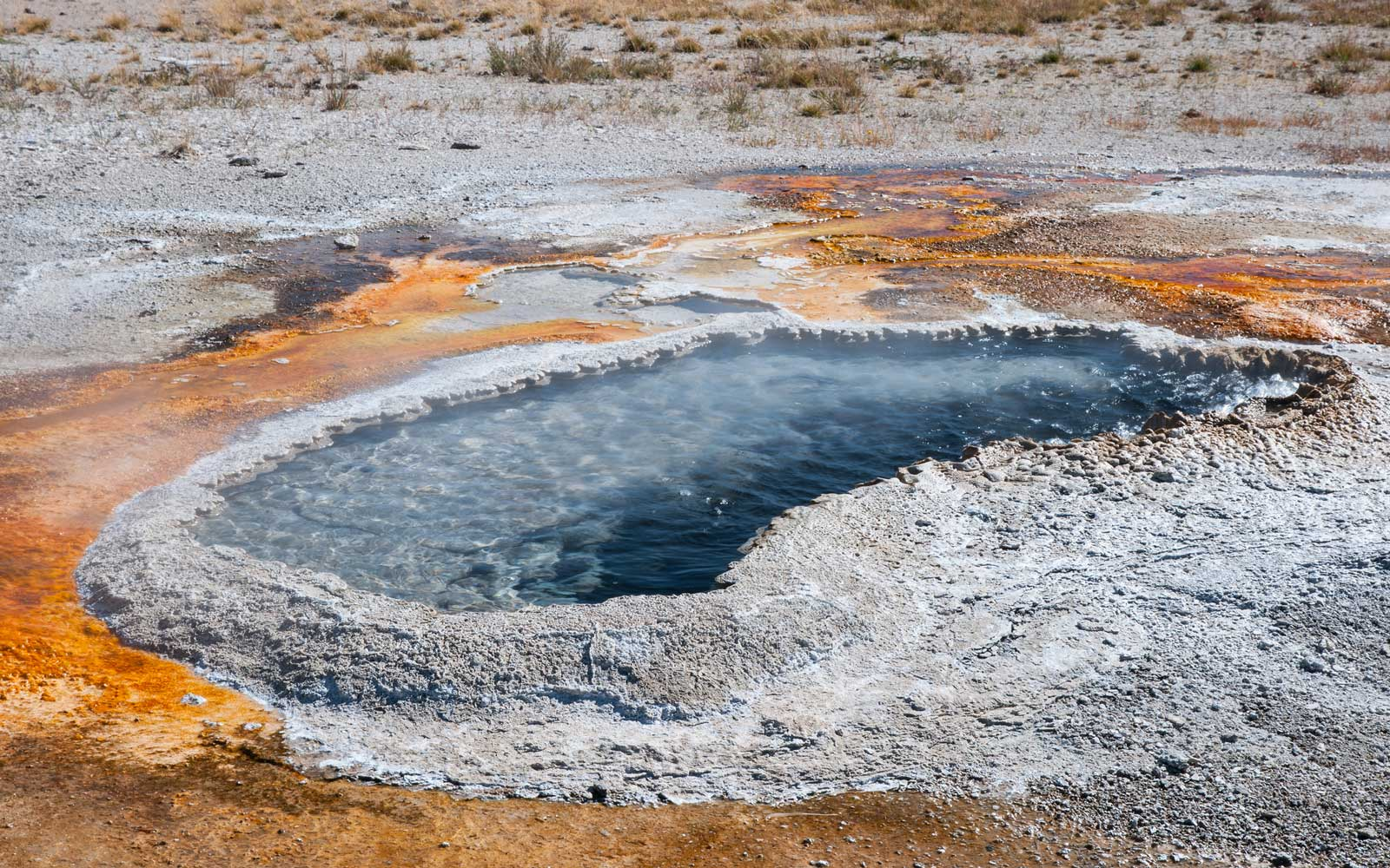 Ear Spring in the Upper Geyser Basin of Yellowstone National Park, Wyoming