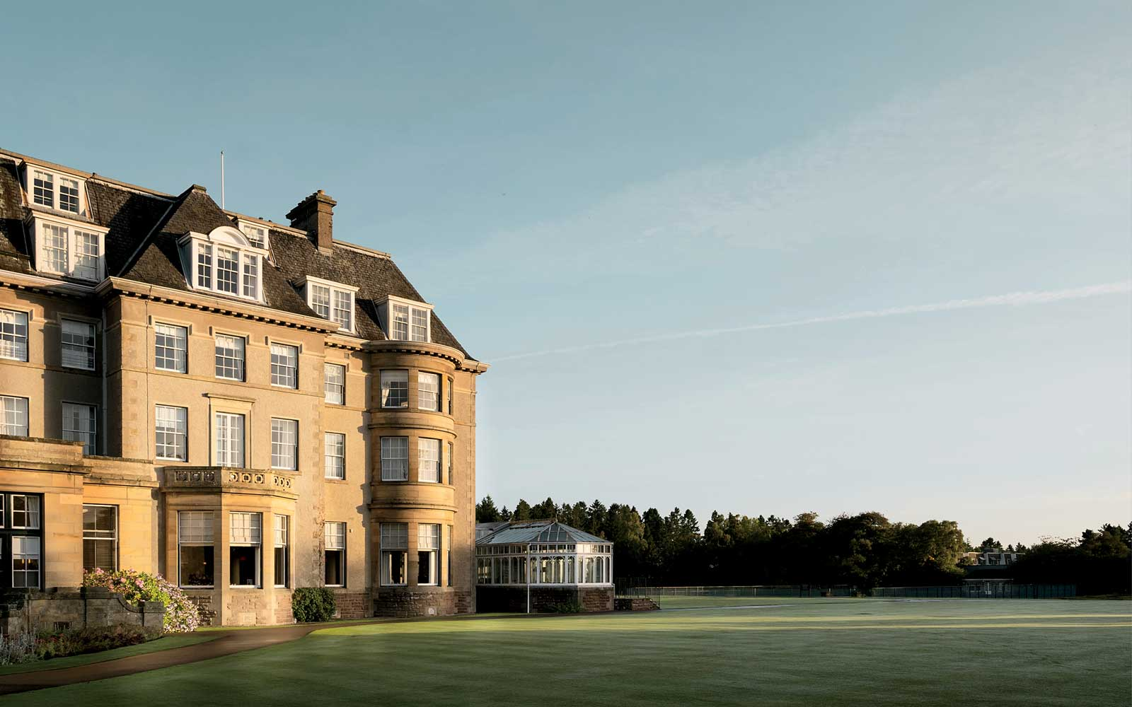 Exterior of Gleneagles luxury retreat, in Scotland