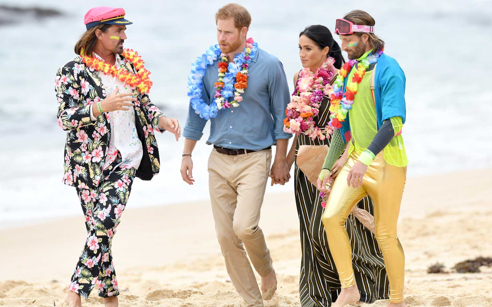 Meghan Markle and Prince Harry at Bondi Beach