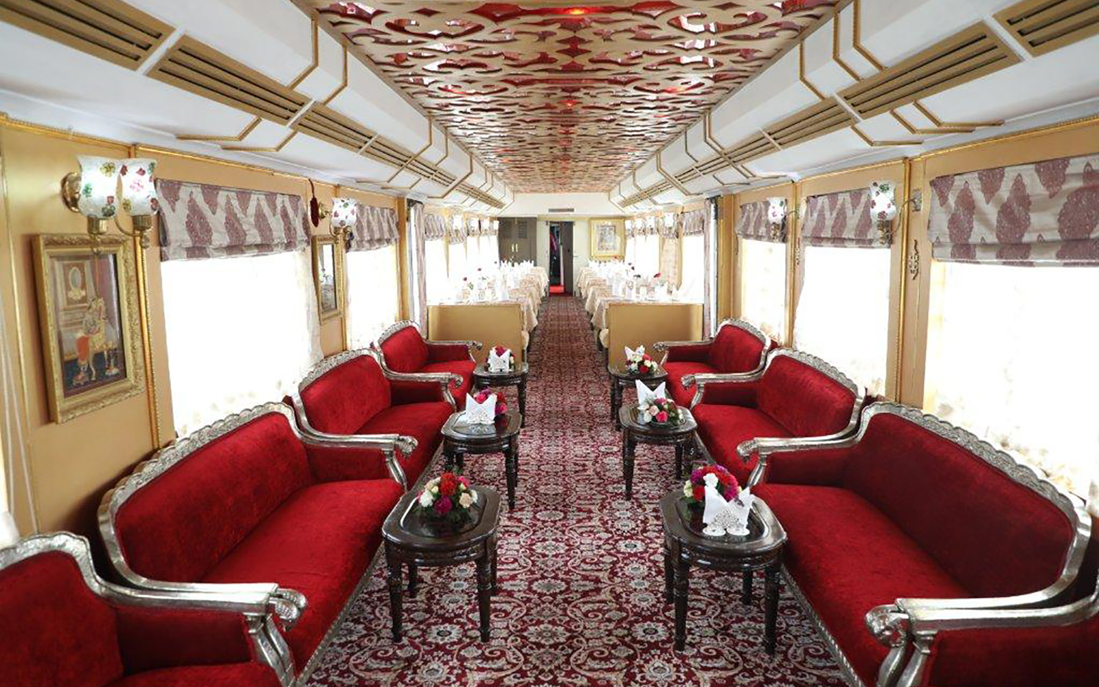 On board the Palace on Wheels luxury train