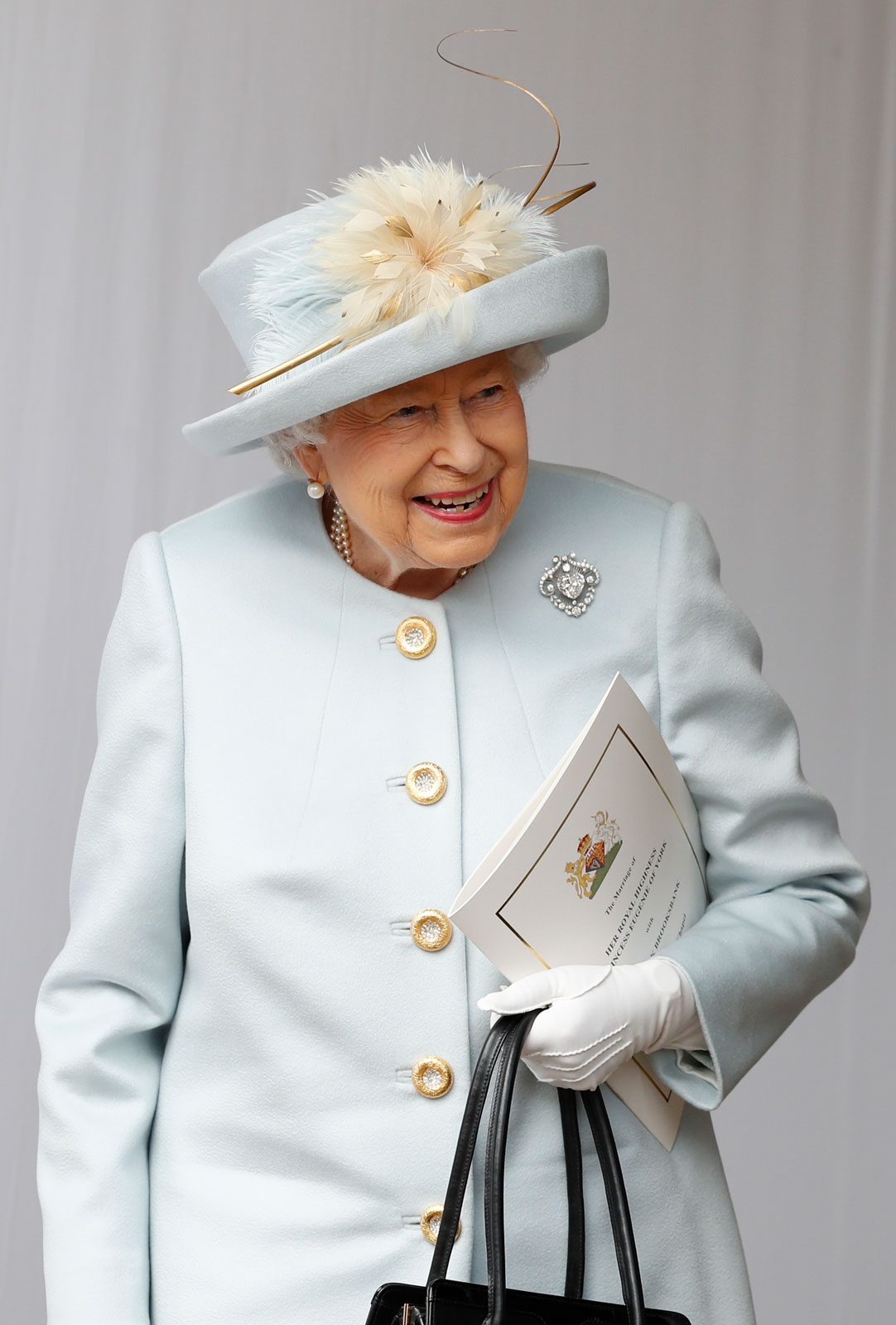 The Queen at the wedding of Princess Eugenie, on Oct. 12, 2018.