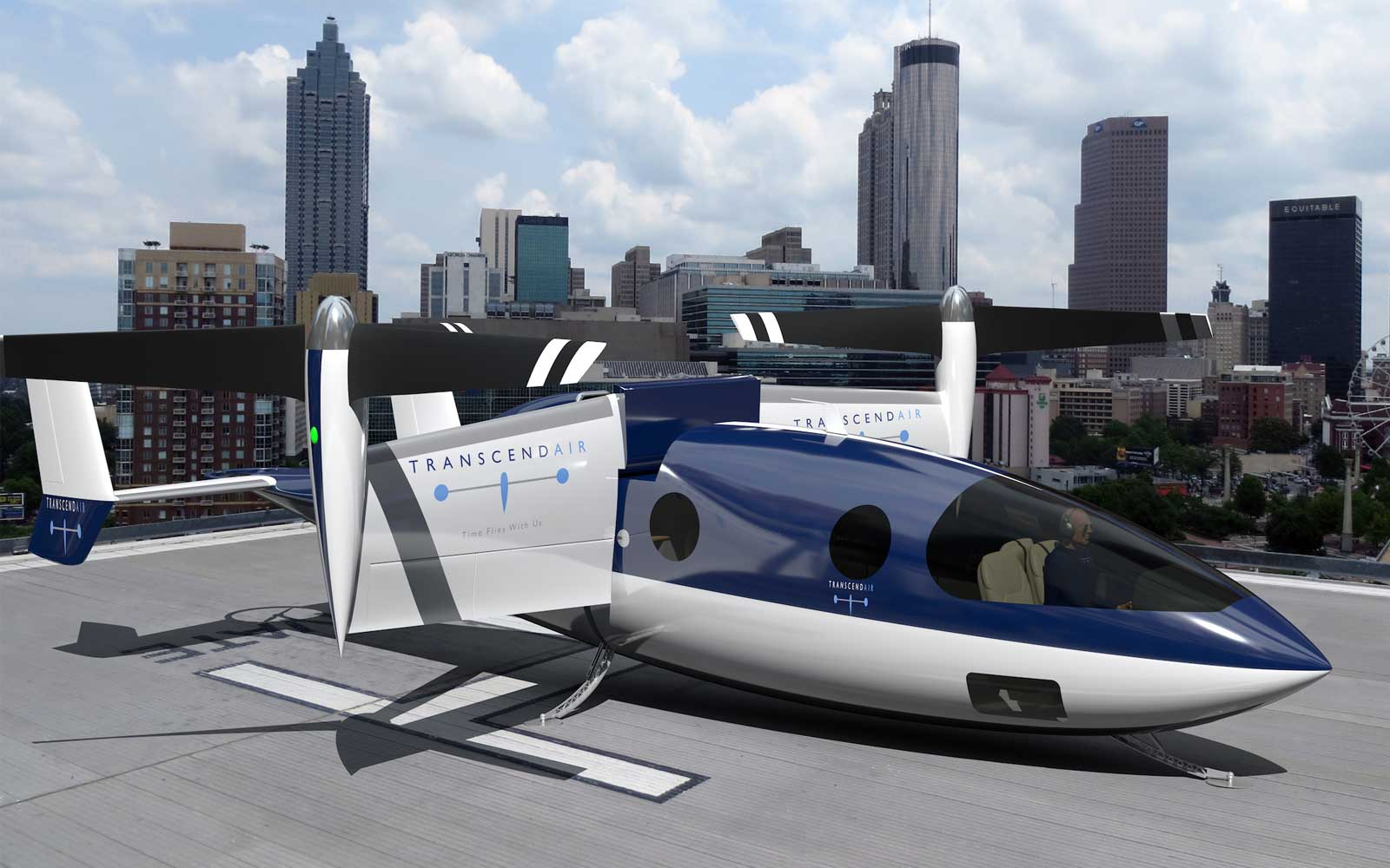 Transcend Air's aircraft will take passengers between cities like Boston and New York in under 40 minutes.