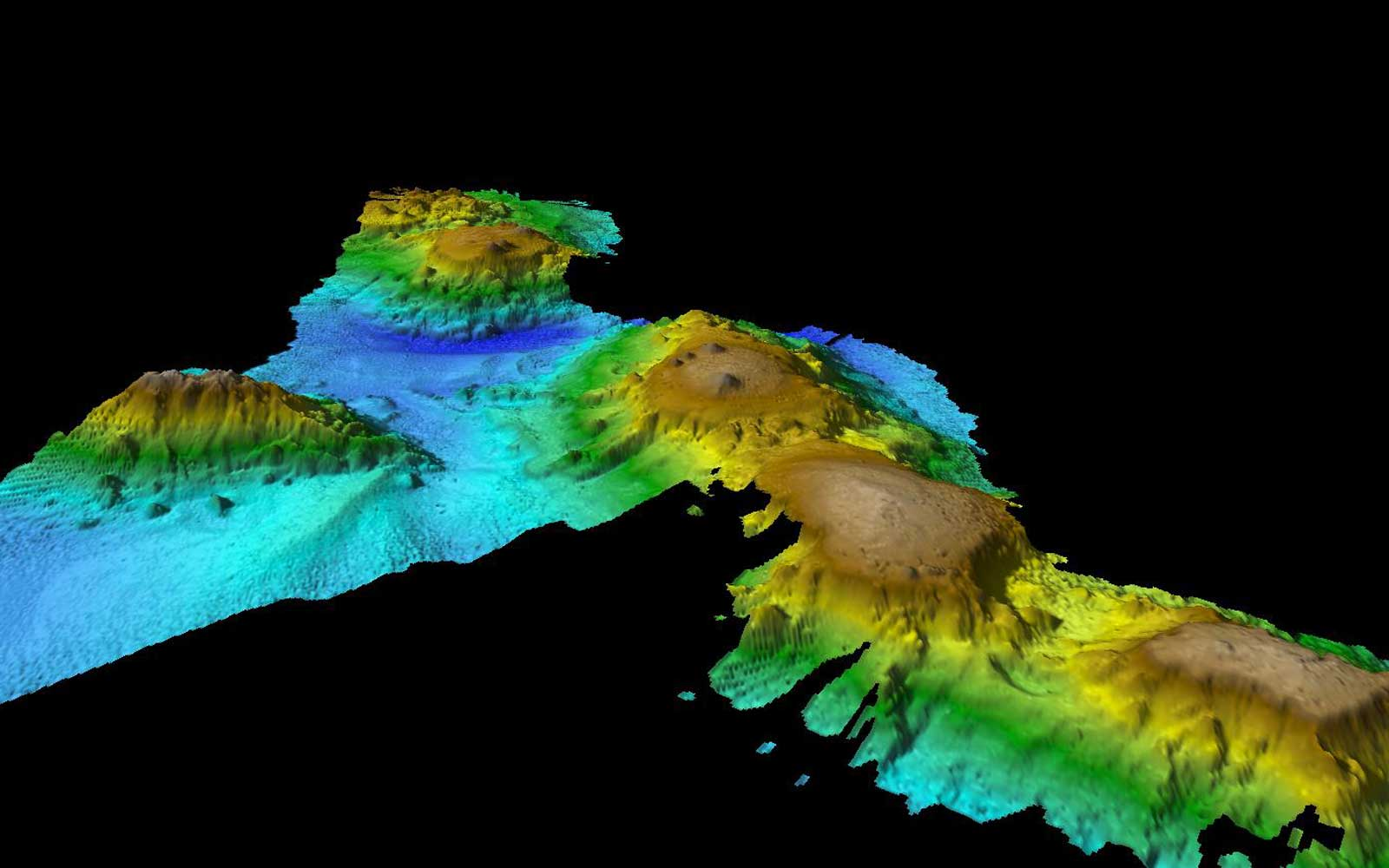 Researches have discovered a series of underwater volcanoes off of the coast of Tasmania.