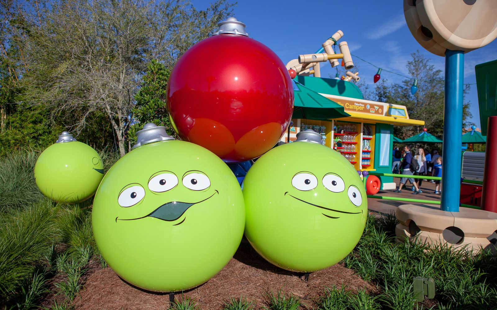 Alien oraments at Toy Story Land