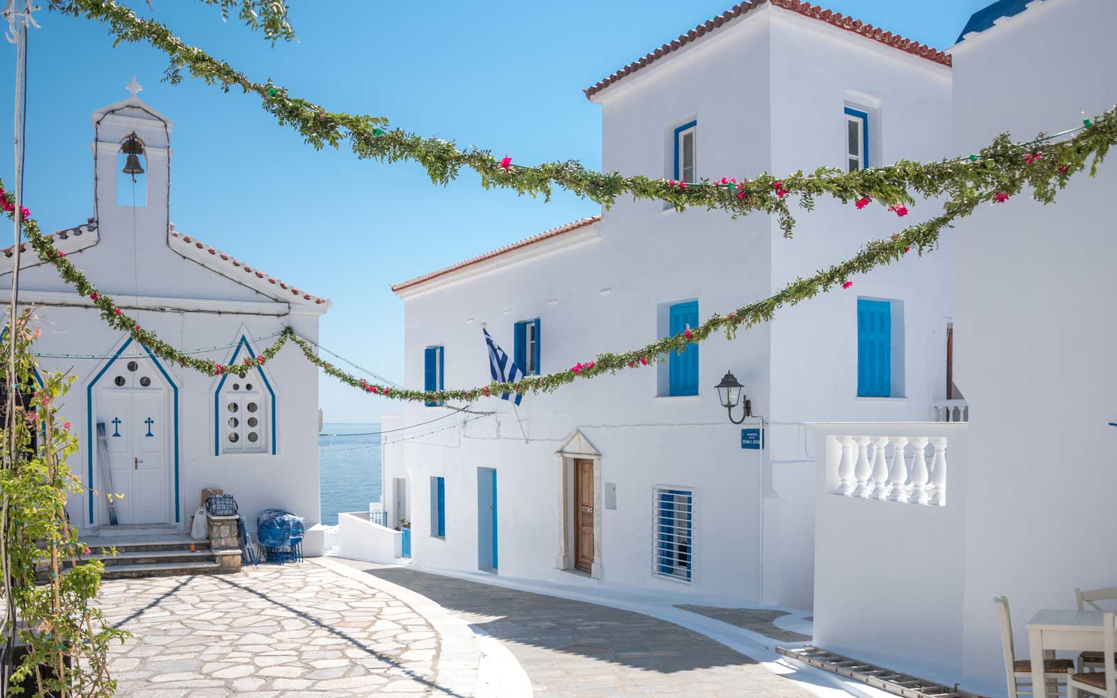 Stay in locations like the Greek island of Andros for free with Barter Week.