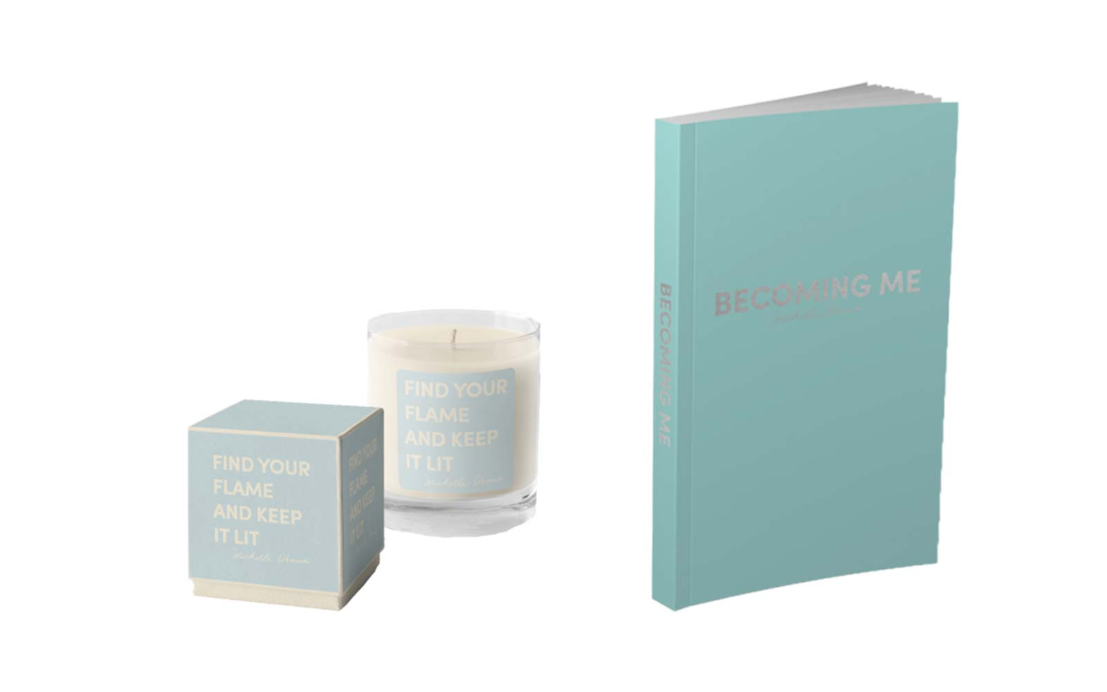 """Becoming"" Candle and Journal"