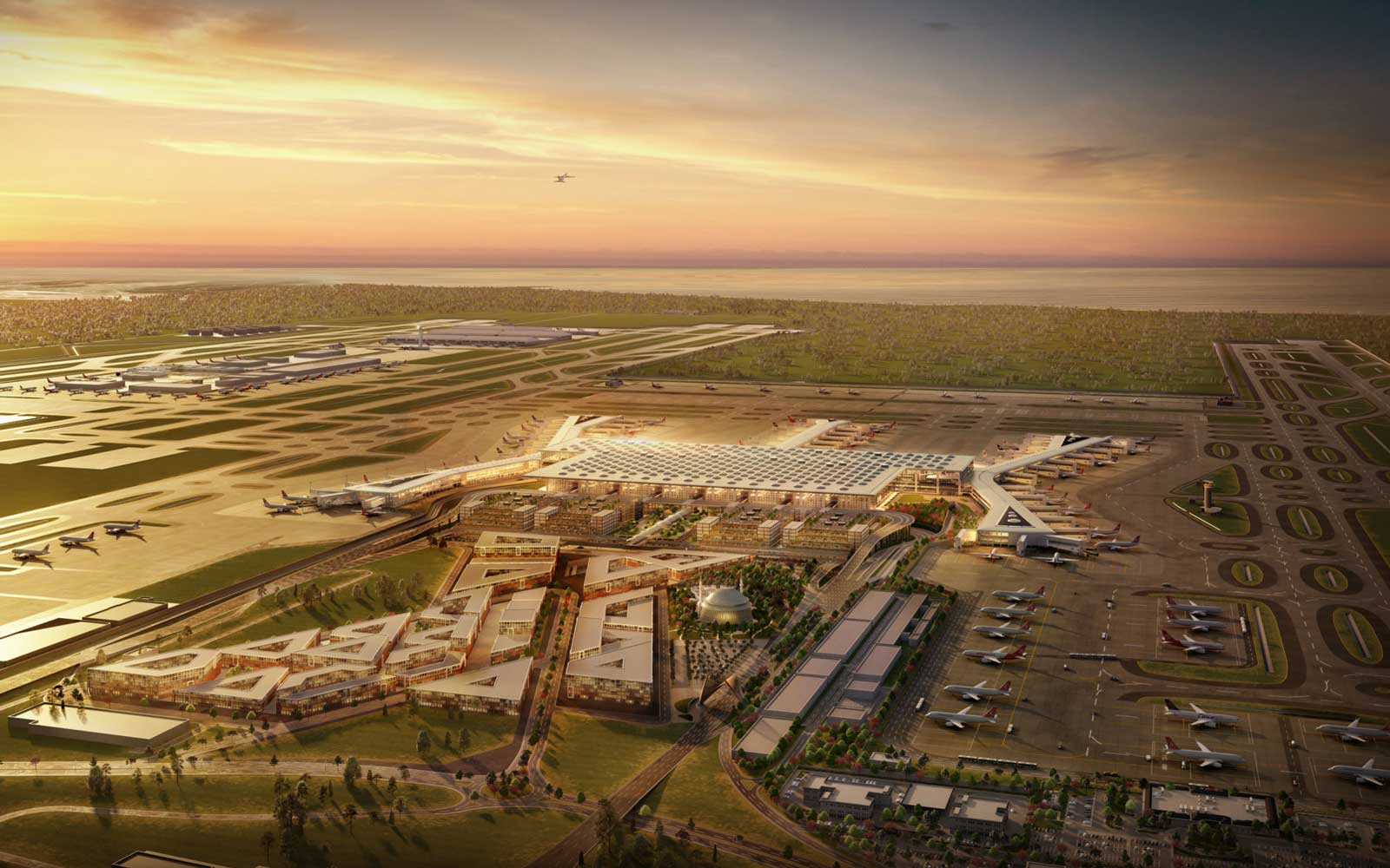 The airport is set to become the world's largest at around 823 million square feet in size.