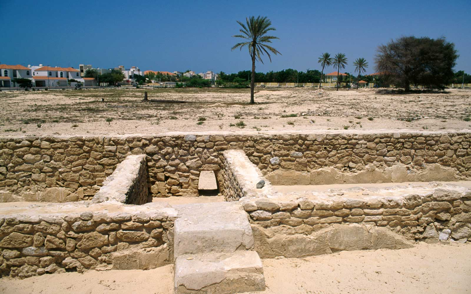 Ruins of the caravanserai (Al Khan), Jumeirah Archaeological Site, United Arab Emirates.