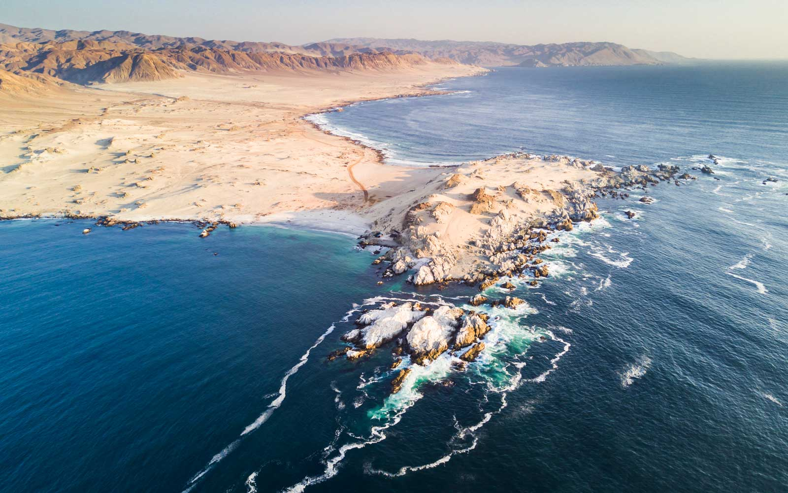 "Atacama Desert has amazing beaches like this one called ""Las Tortolas"" in Taltal town at Antofagasta region, Chile."
