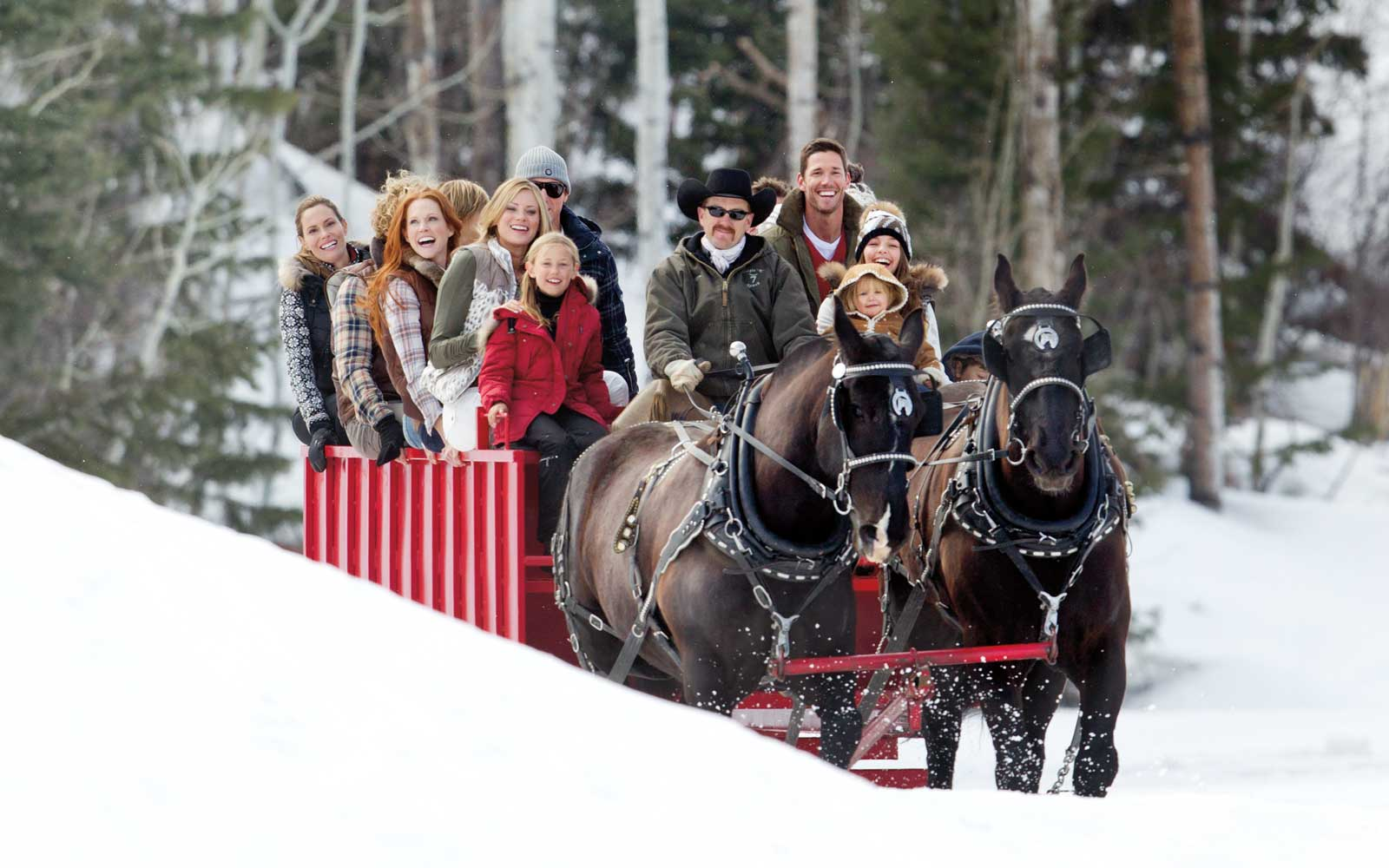 Sleigh ride at the Park City Resort