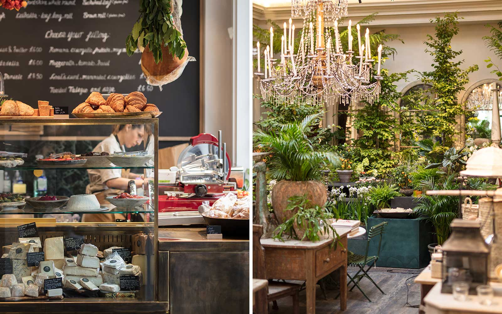 Scenes from Petersham Nurseries in London's Covent Garden