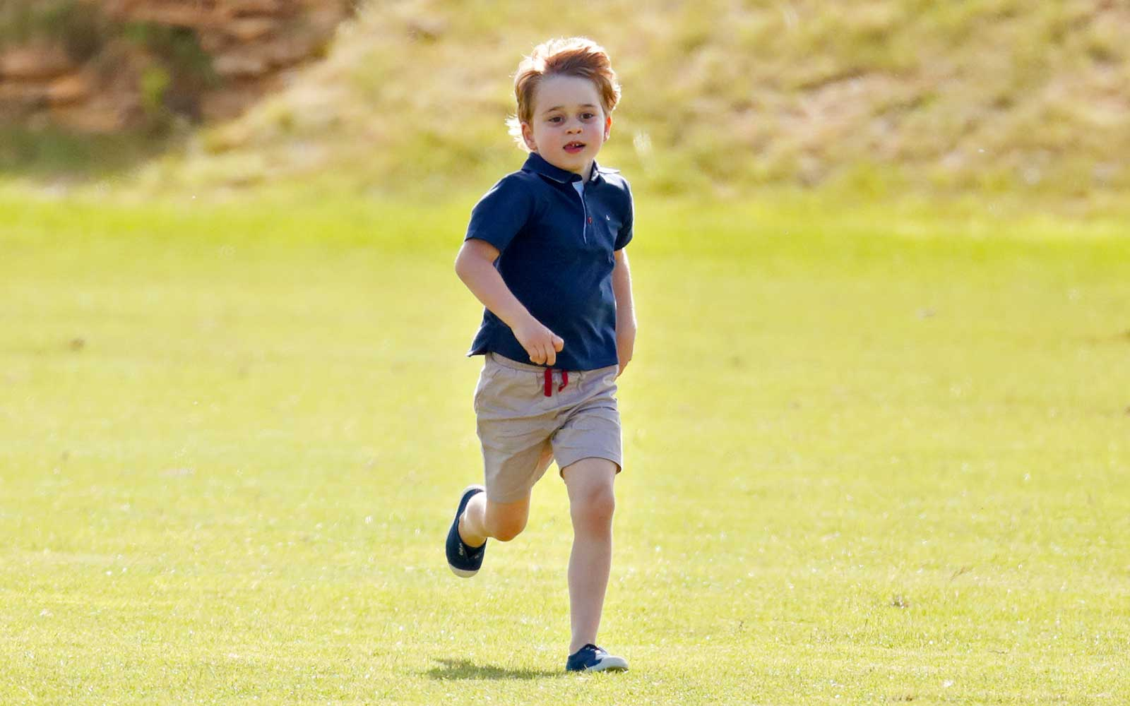 Prince George of Cambridge attends the Maserati Royal Charity Polo