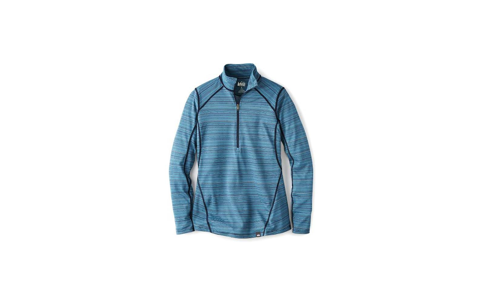 REI lightweight base layer half zip top