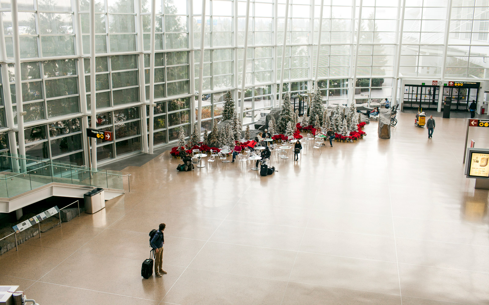 Seattle Tacoma International Airport during the holiday season.