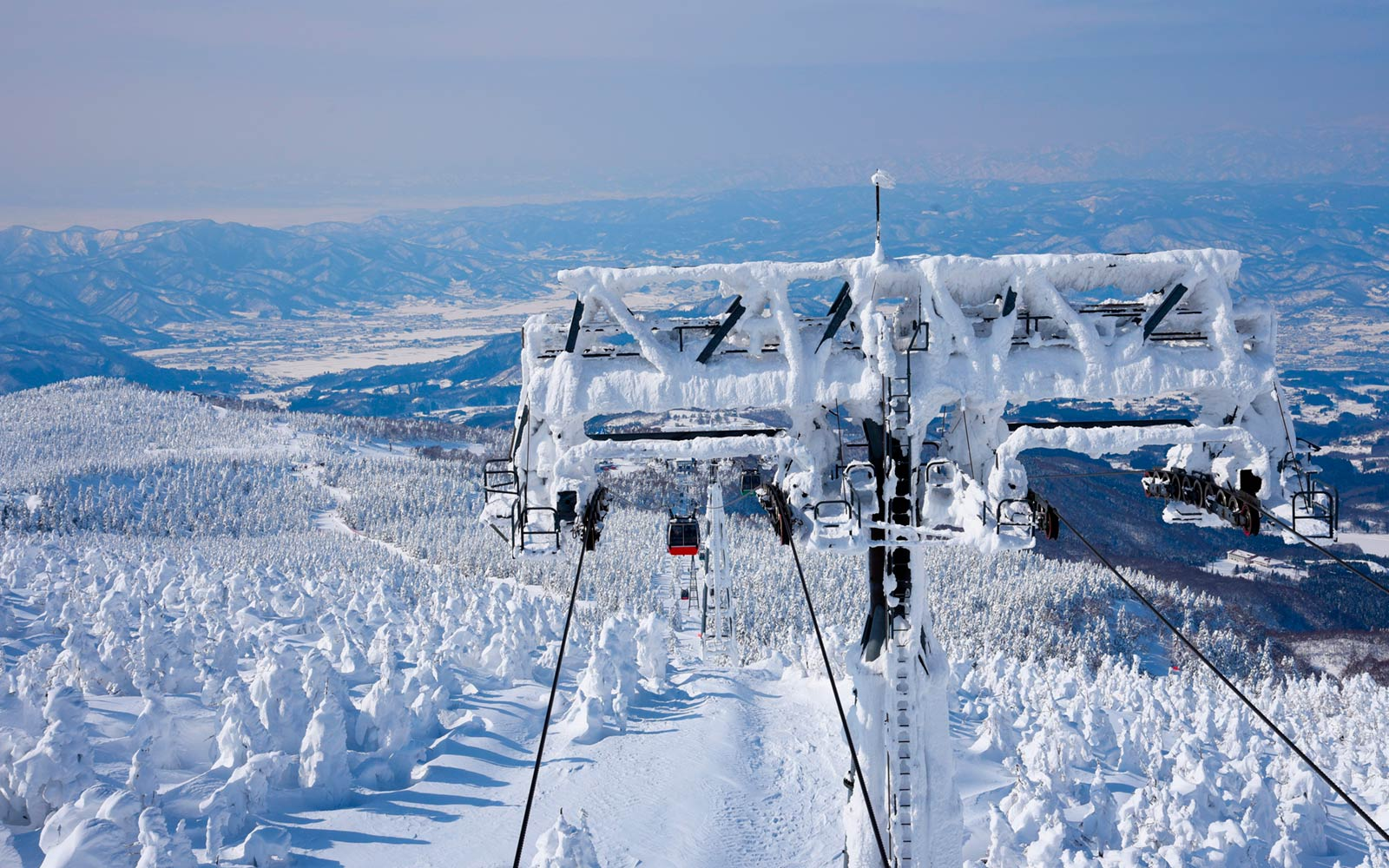 Ski Lift at Zao Ski Resort in Japan