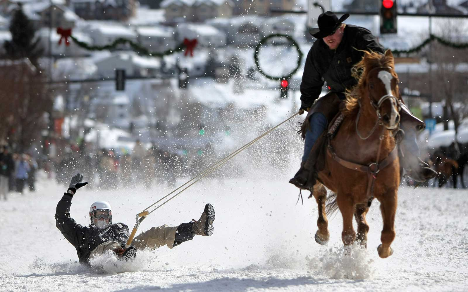 Shovel sledding at the Steamboat Springs Winter Carnival