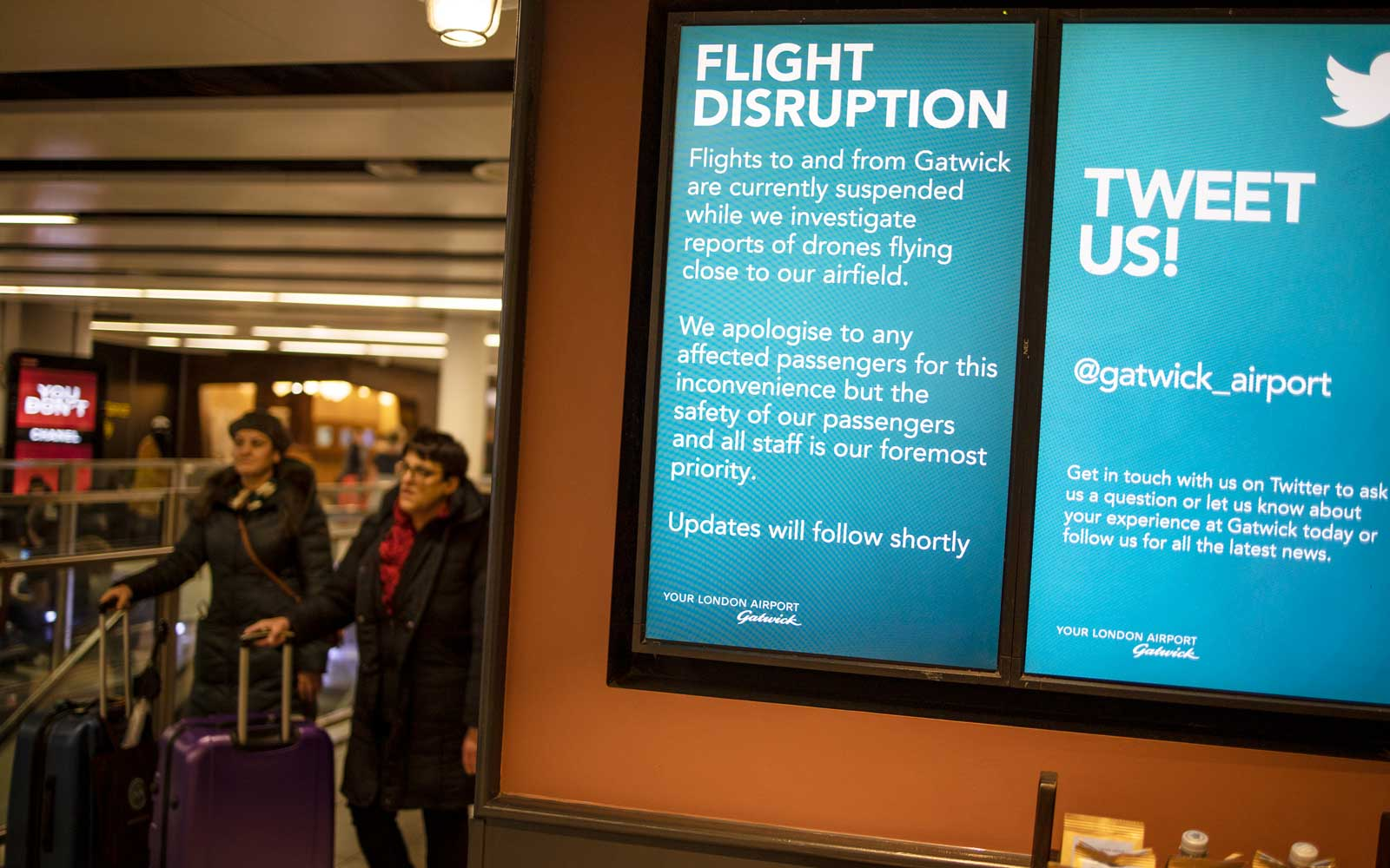 London Gatwick Airport Closed After Drones Spotted In Airspace