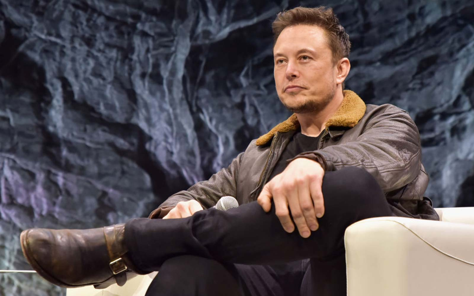 Elon Musk speaks onstage at Elon Musk Answers Your Questions!