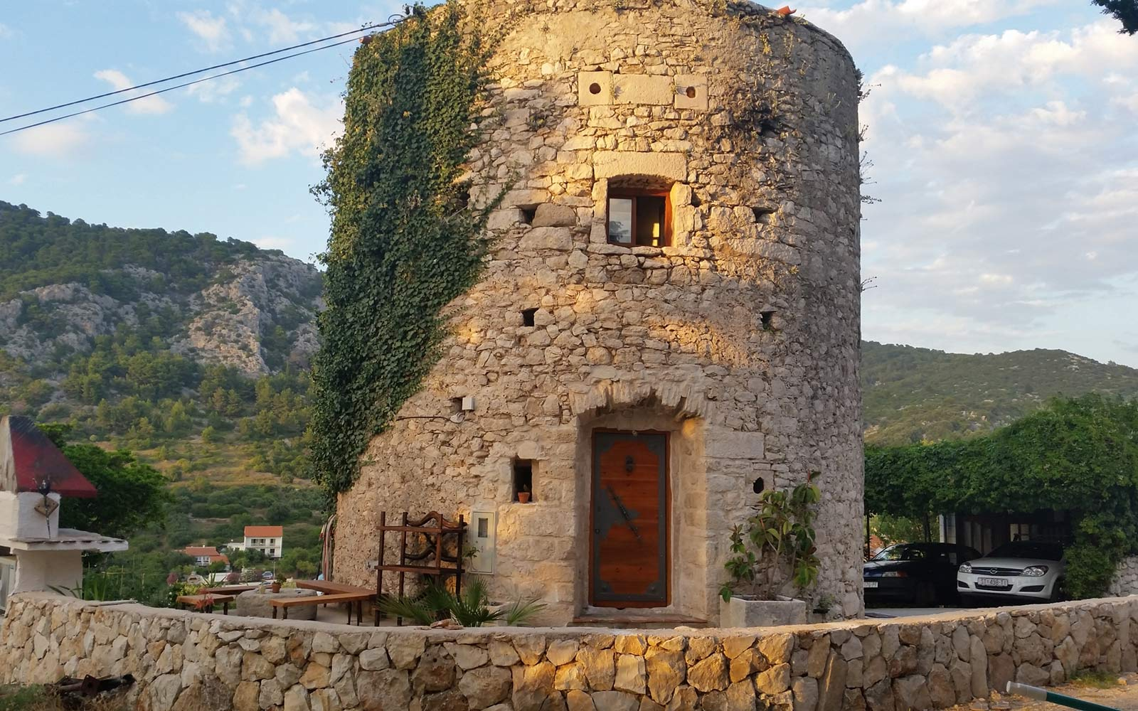 Old Tower in the Historical Center in Hvar, Croatia