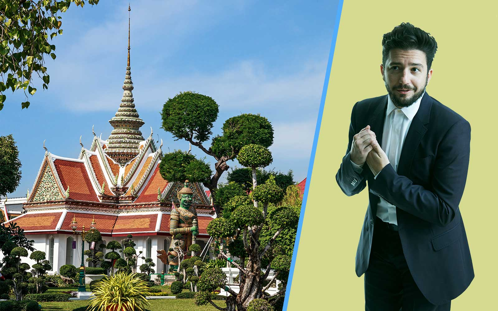 actor Jahn Magaro talks to Travel + Leisure about his upcoming trip to Thailand