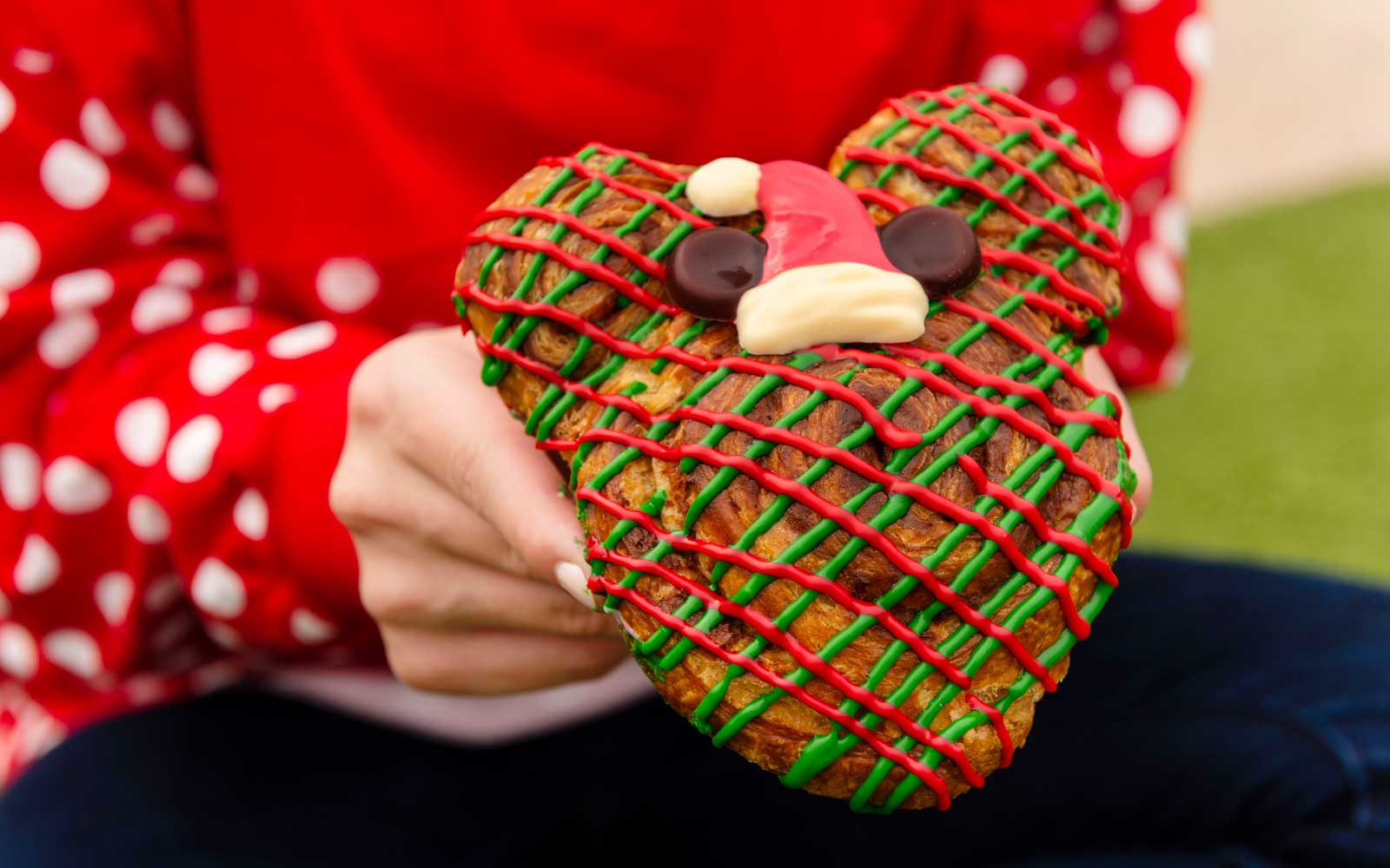 Mickey Mouse shaped Christmas baked goods at Disney
