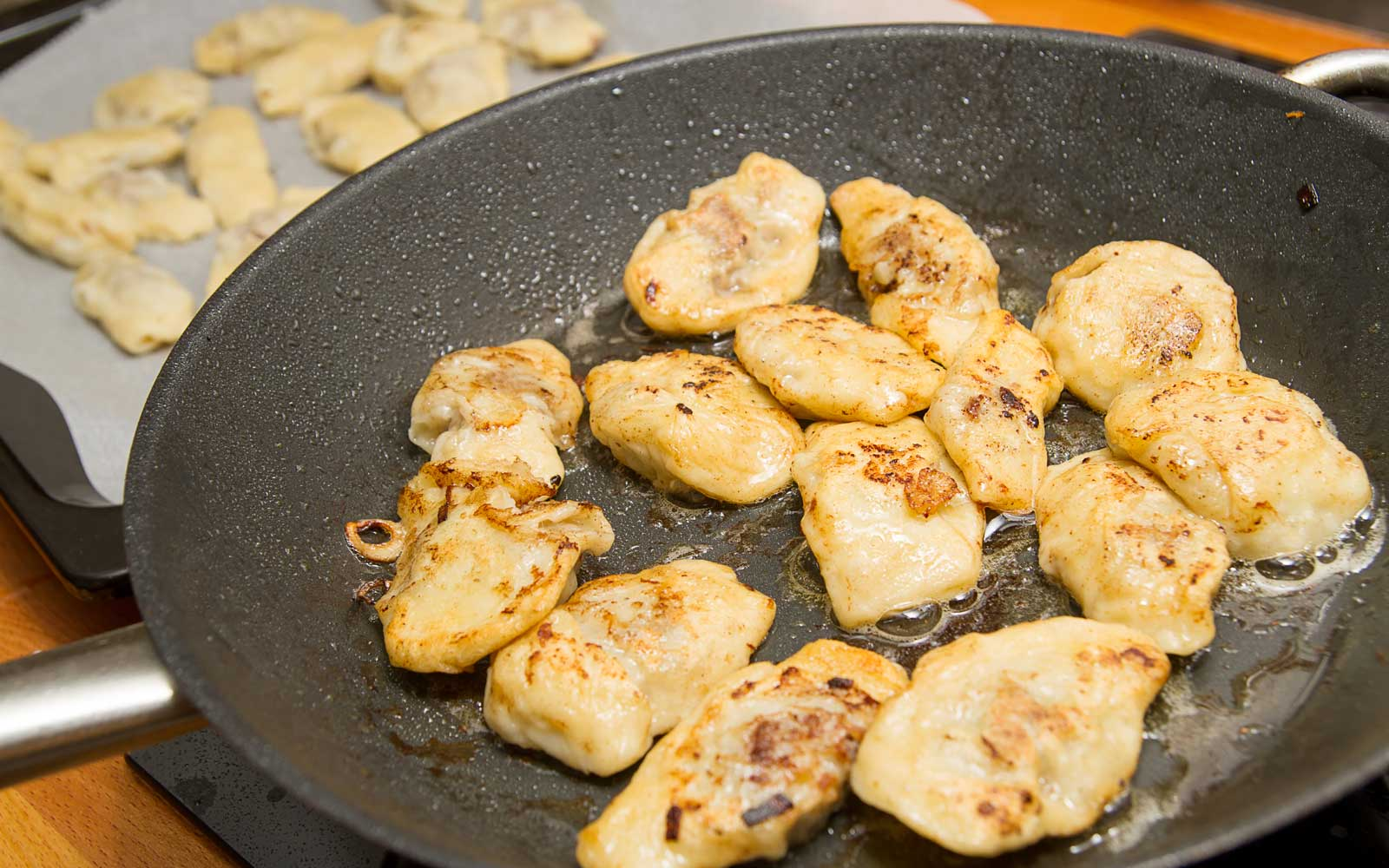 These dumplings come filled with both sweet and savorily ingredients.
