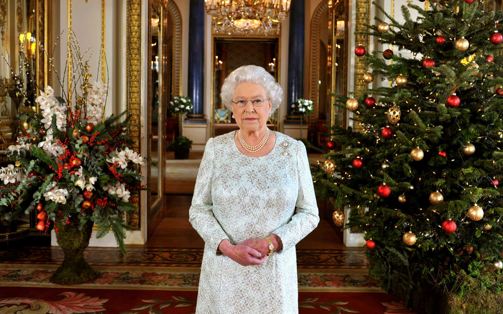 Queen Elizabeth II records her Christmas message to the Commonwealth