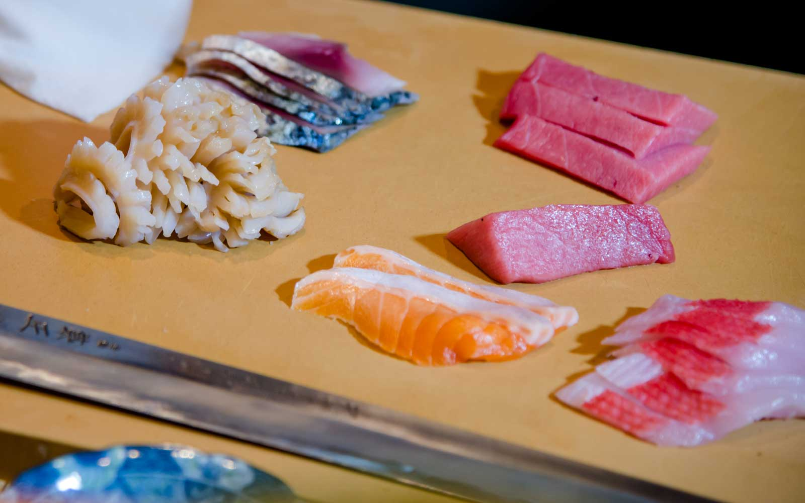 Fresh fish is used to prepare omakase dishes at Sushi by Bou Suite 1001.