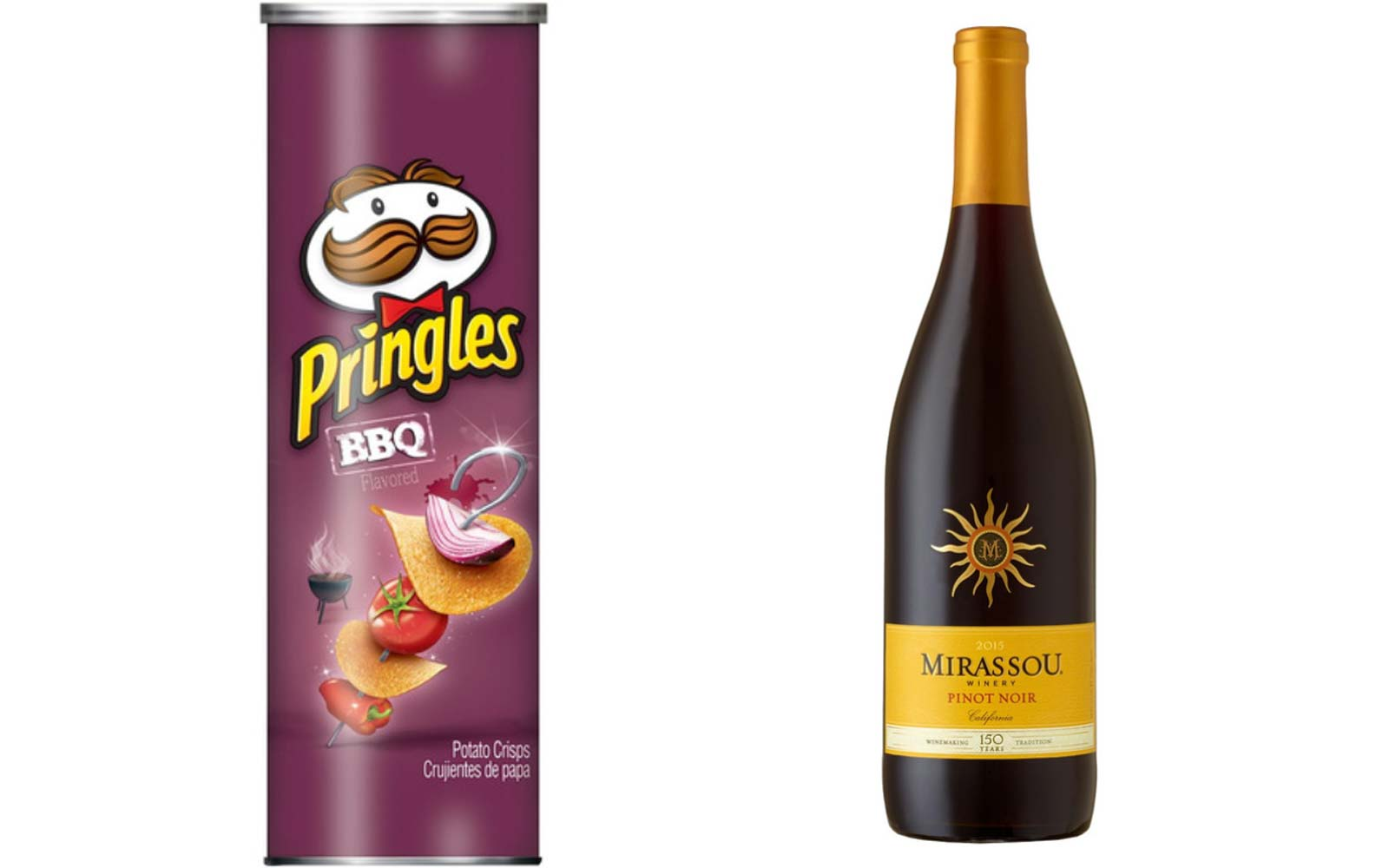 BBQ Pringles with Pinot Noir