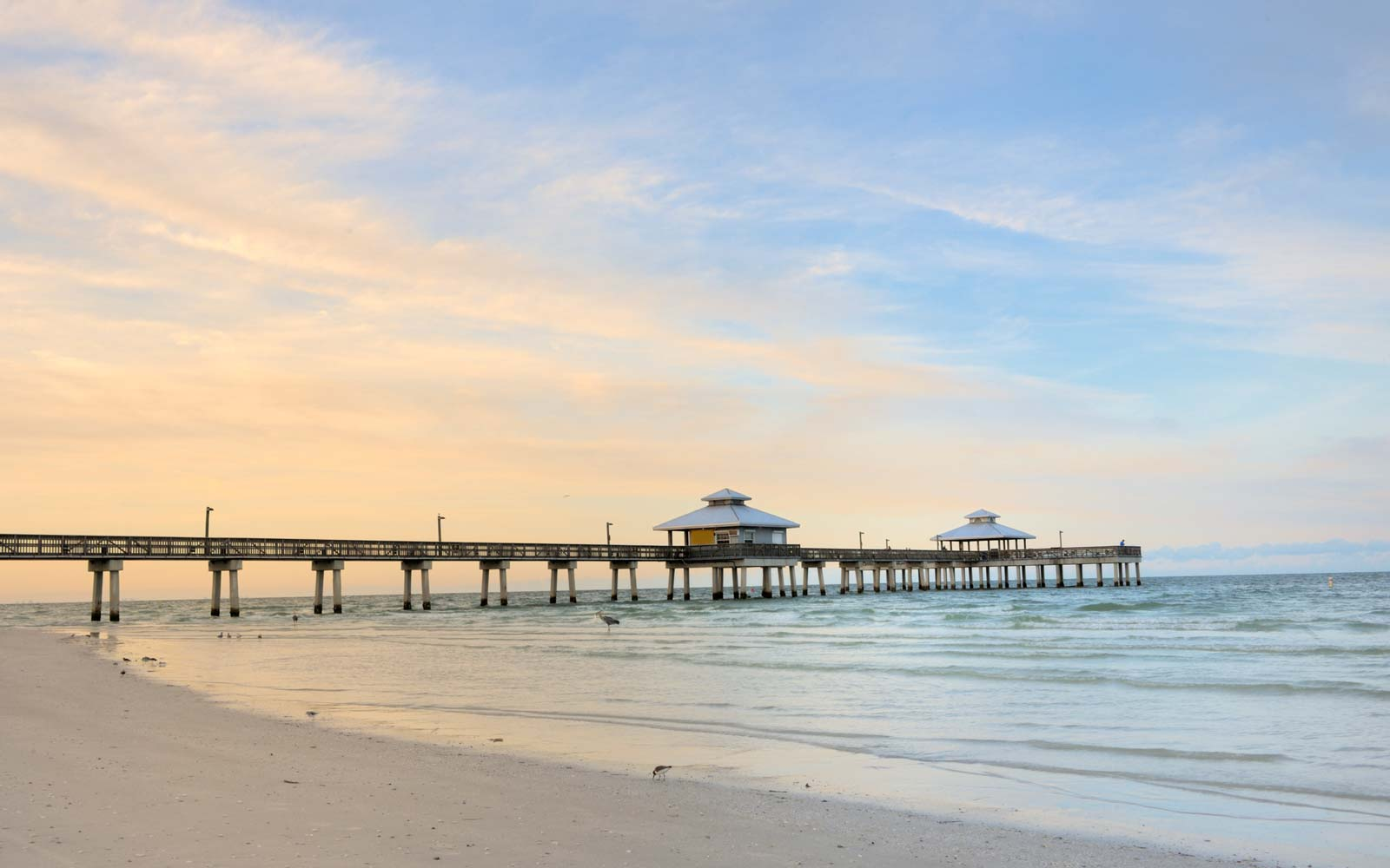 the pier in Fort Myers at dawn, Florida USA