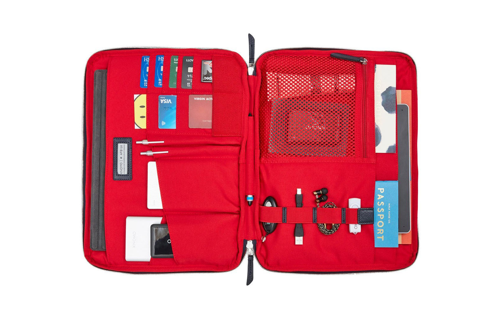 Red Interior of Tech Case